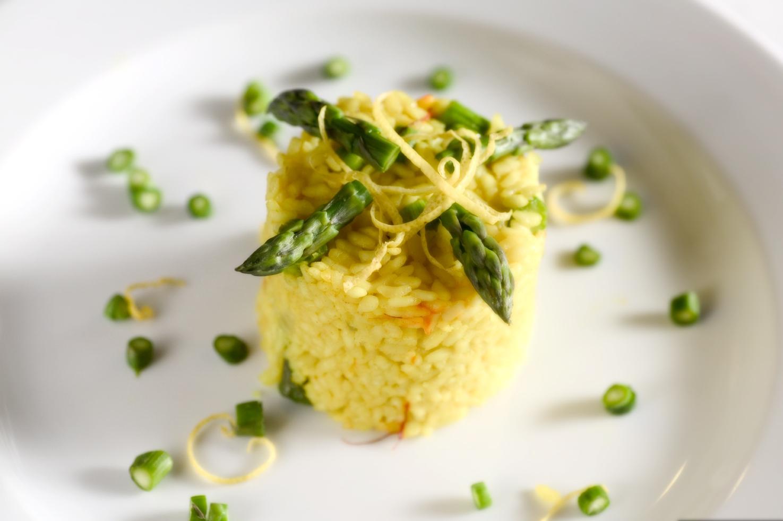 Asparges-risotto med citron