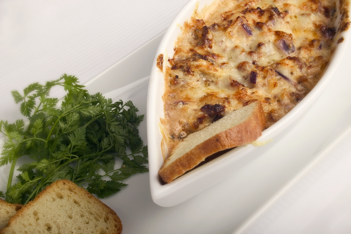 Crostini med parmesandip