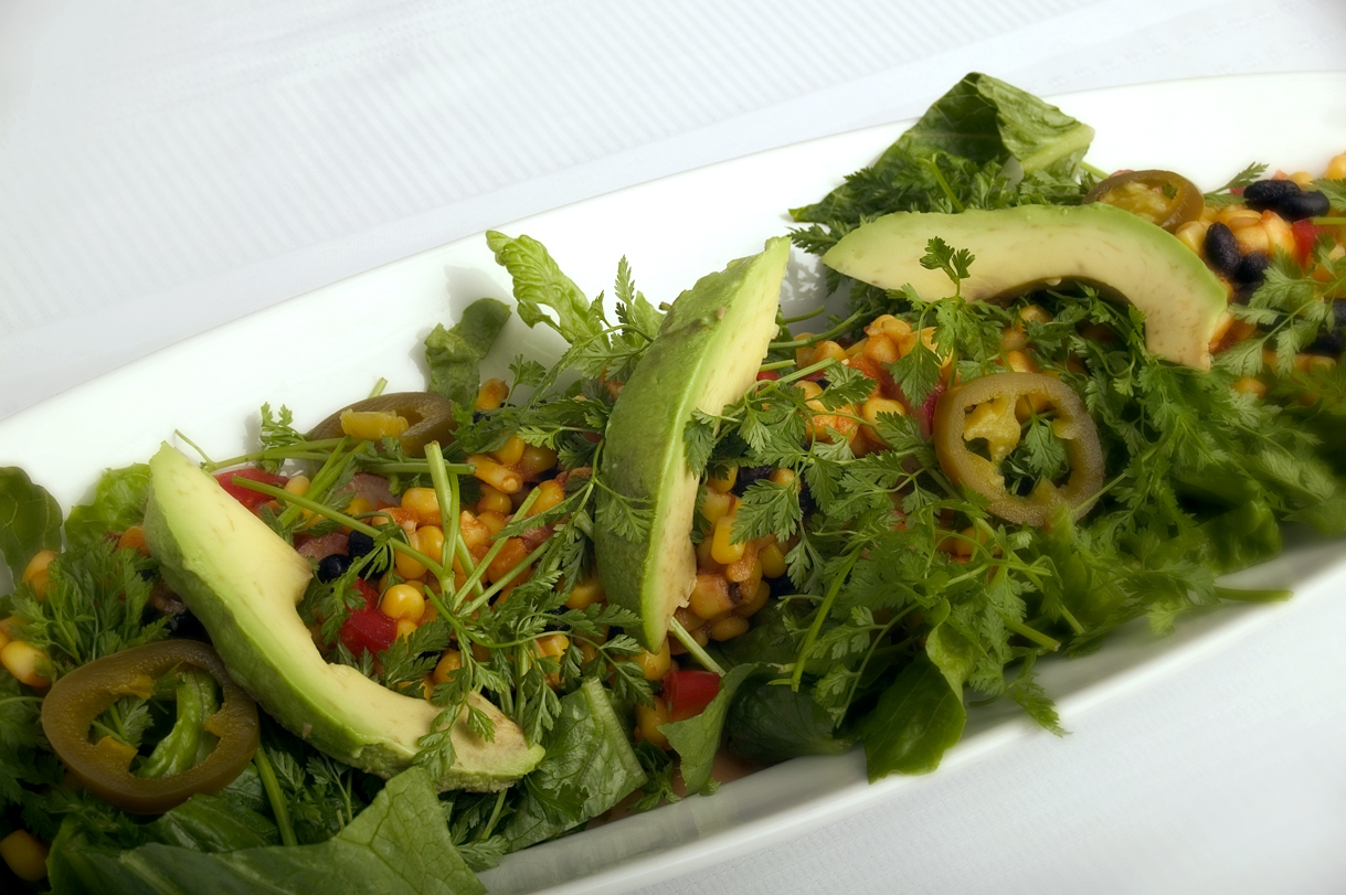 Mexicansk salat med honning-lime dressing