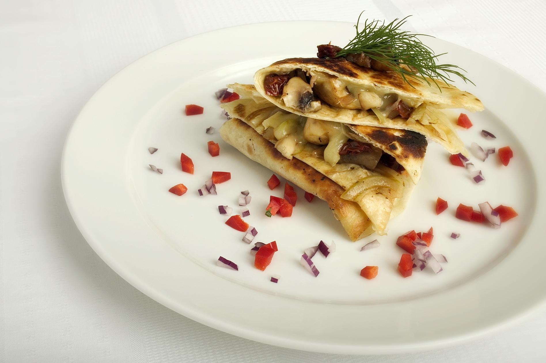 Quesadillas med champignon