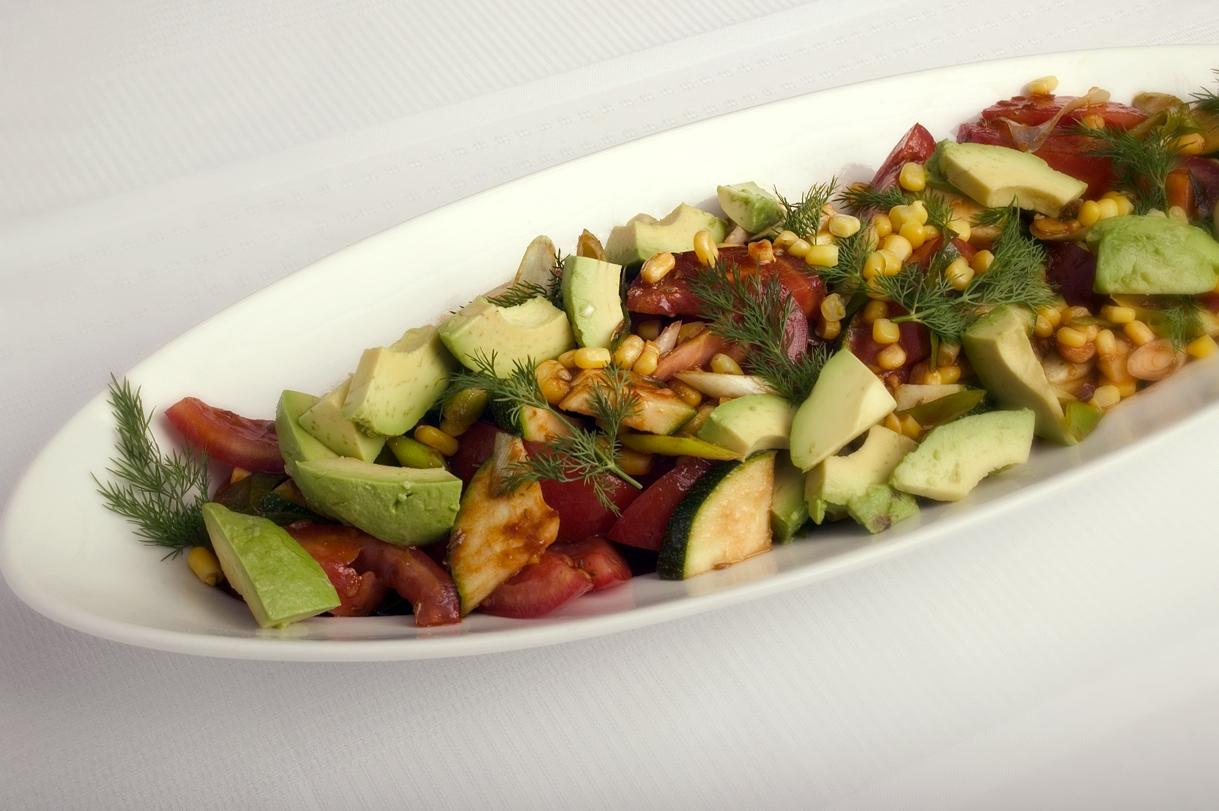 Mexicansk salat med squash og avocado