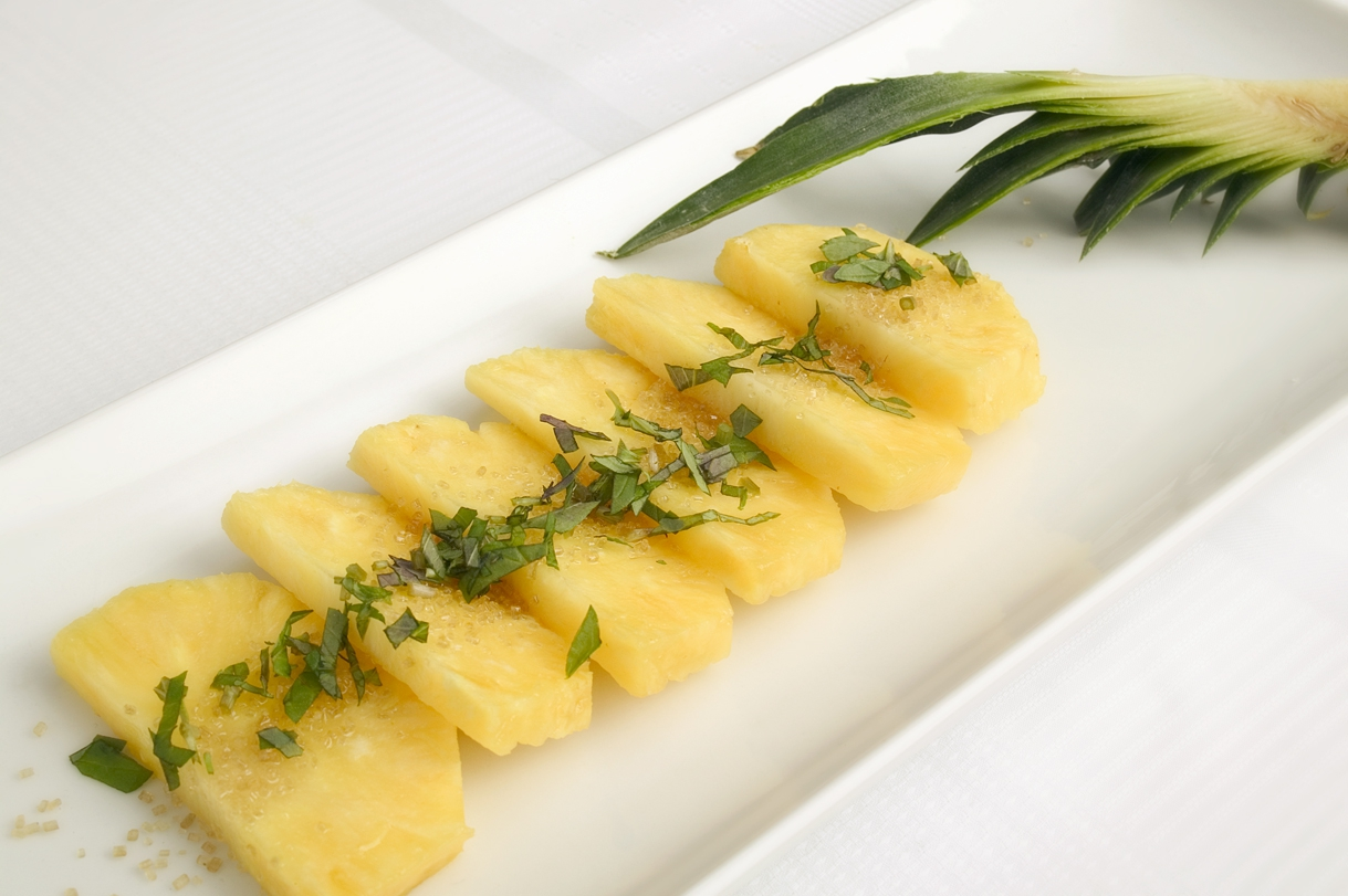Ananas med mynte