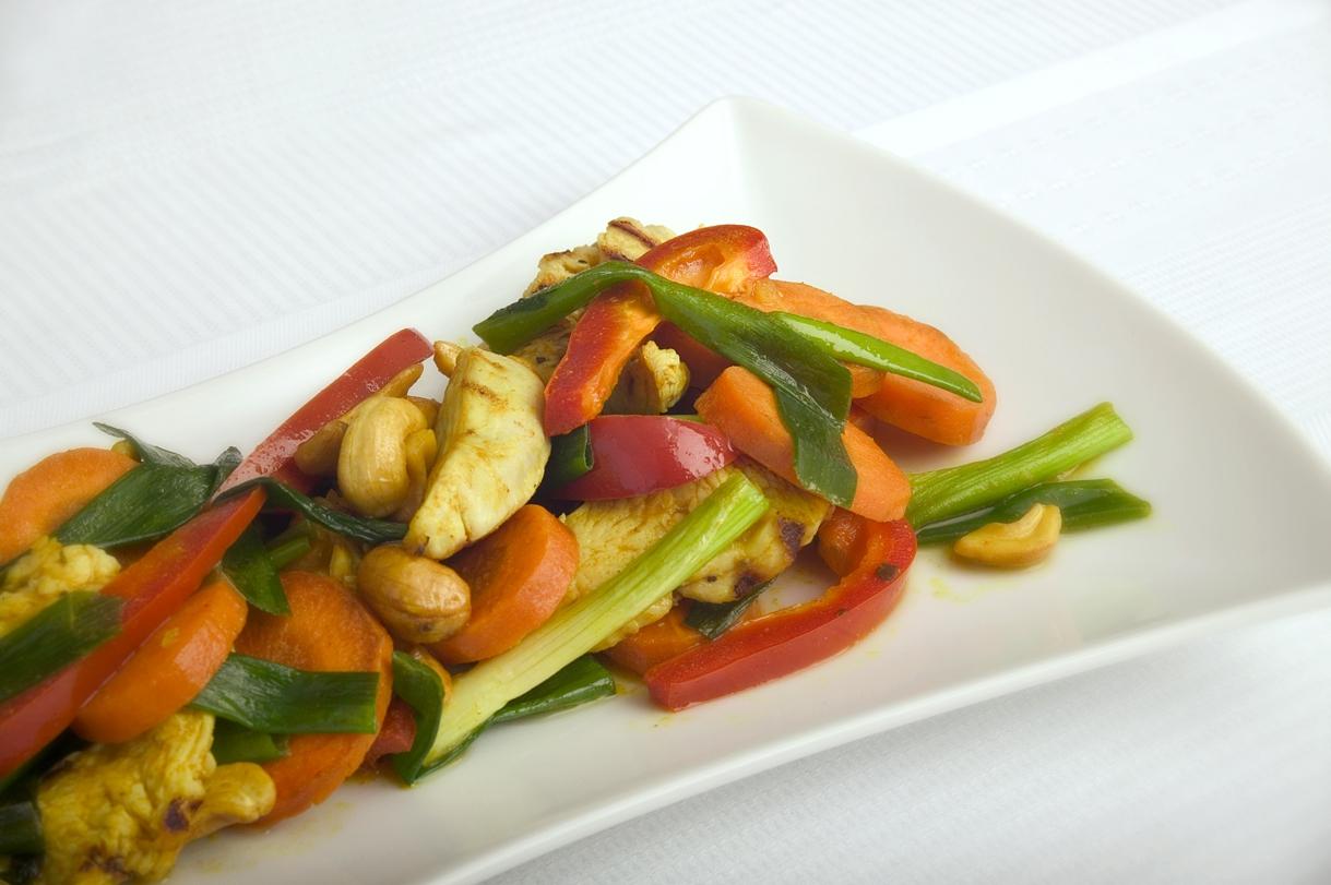 Kalkunschnitzel i wok