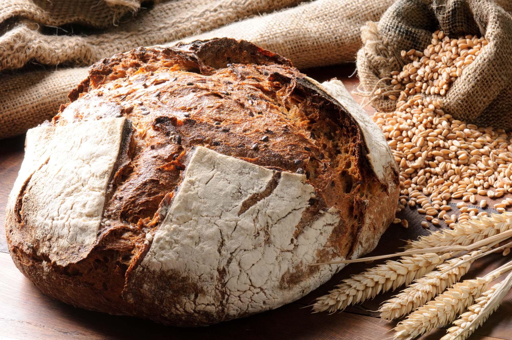 Groft franskbrød med kerner