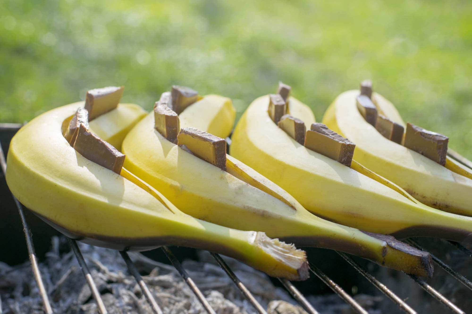 Bagt Banan med chokolade og whiskey