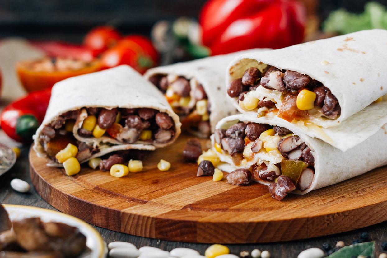 Enchilada med sorte bønner