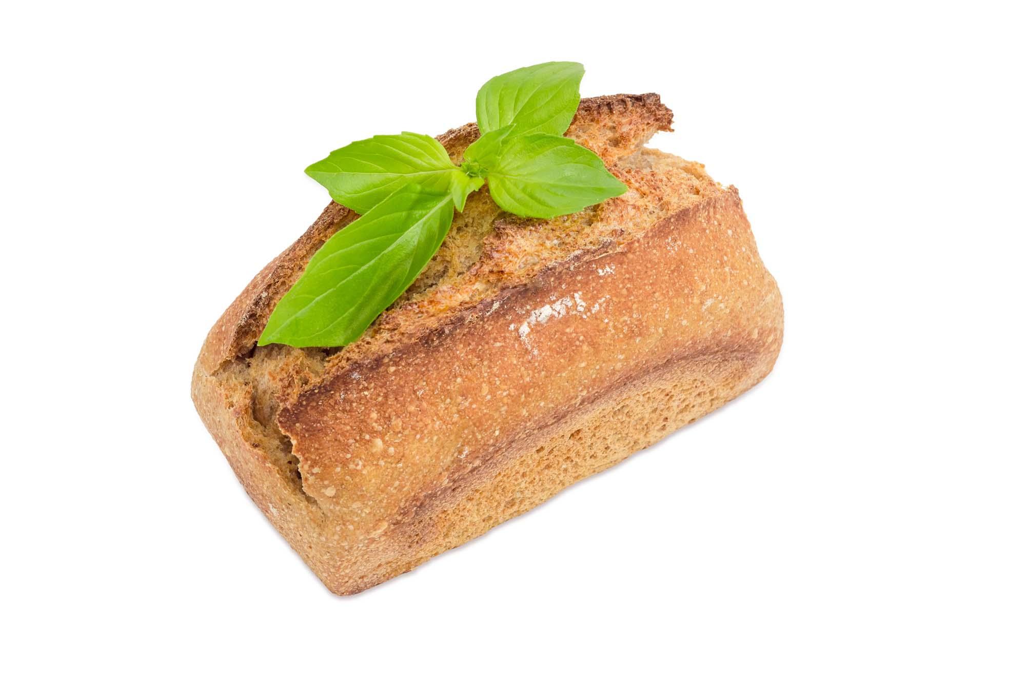 Groft brød med basilikum