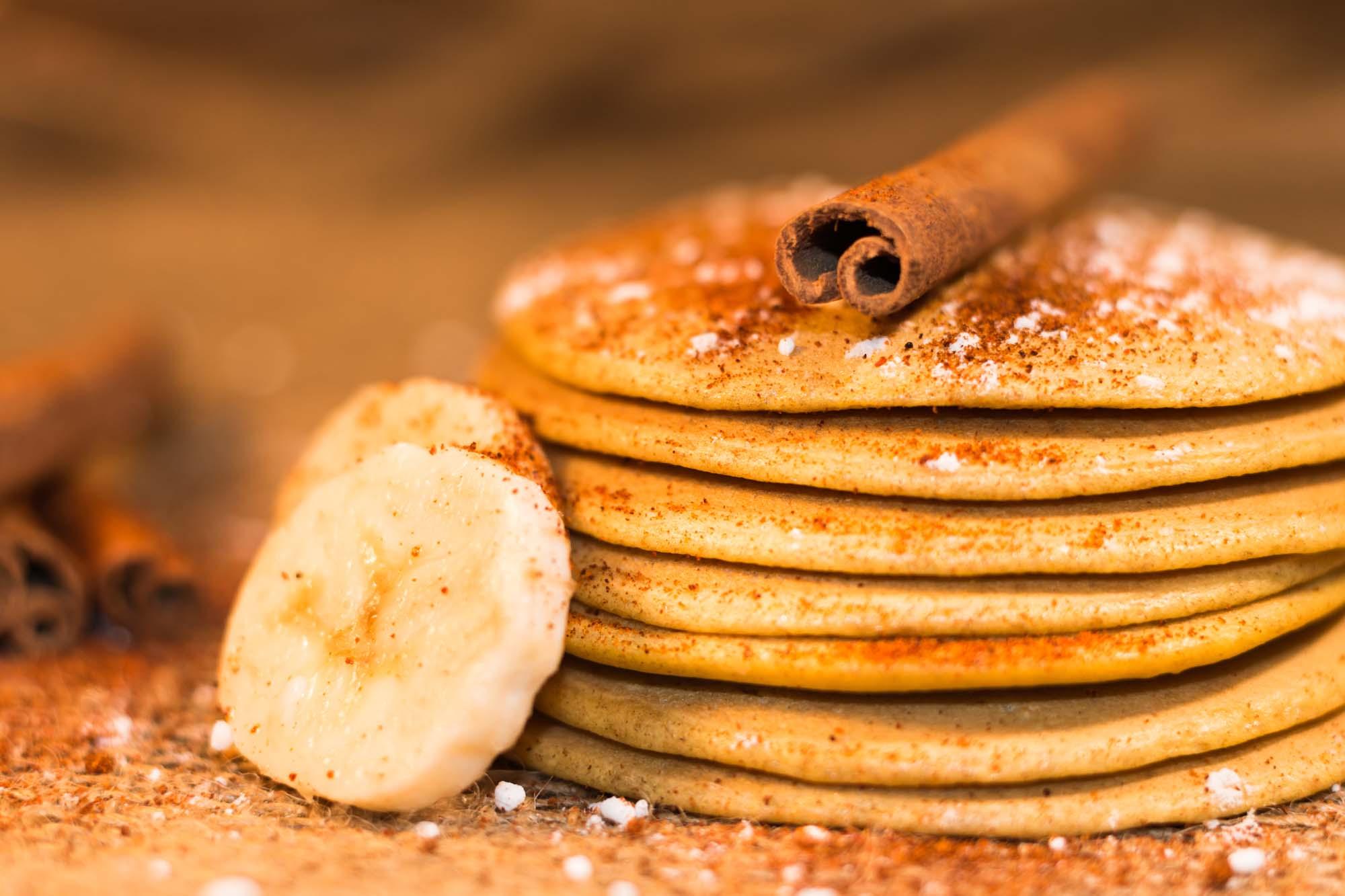 Amerikanske pandekager med kanel