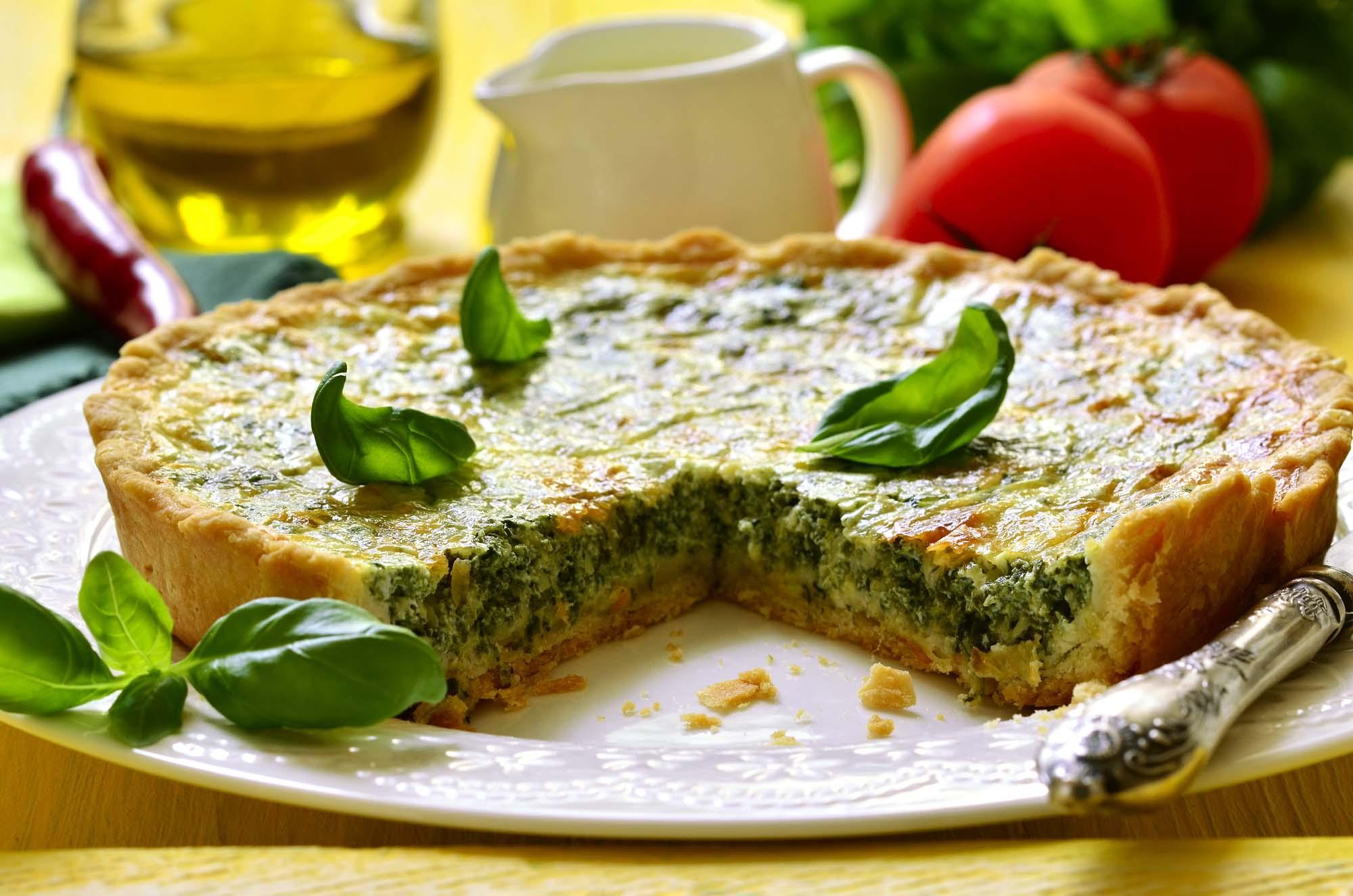 Økologisk grøntsagstærte