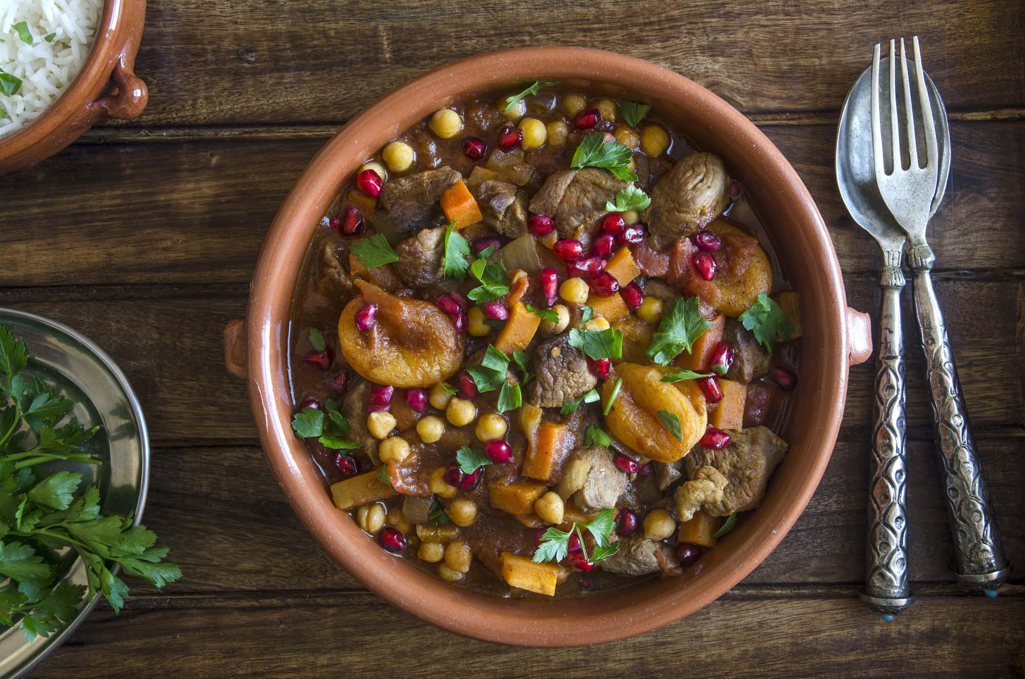 Oksekød og grønsager - tagine