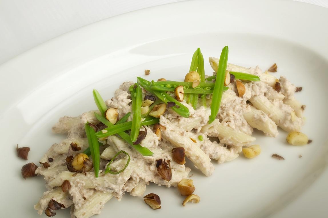 Pasta med champignonpesto
