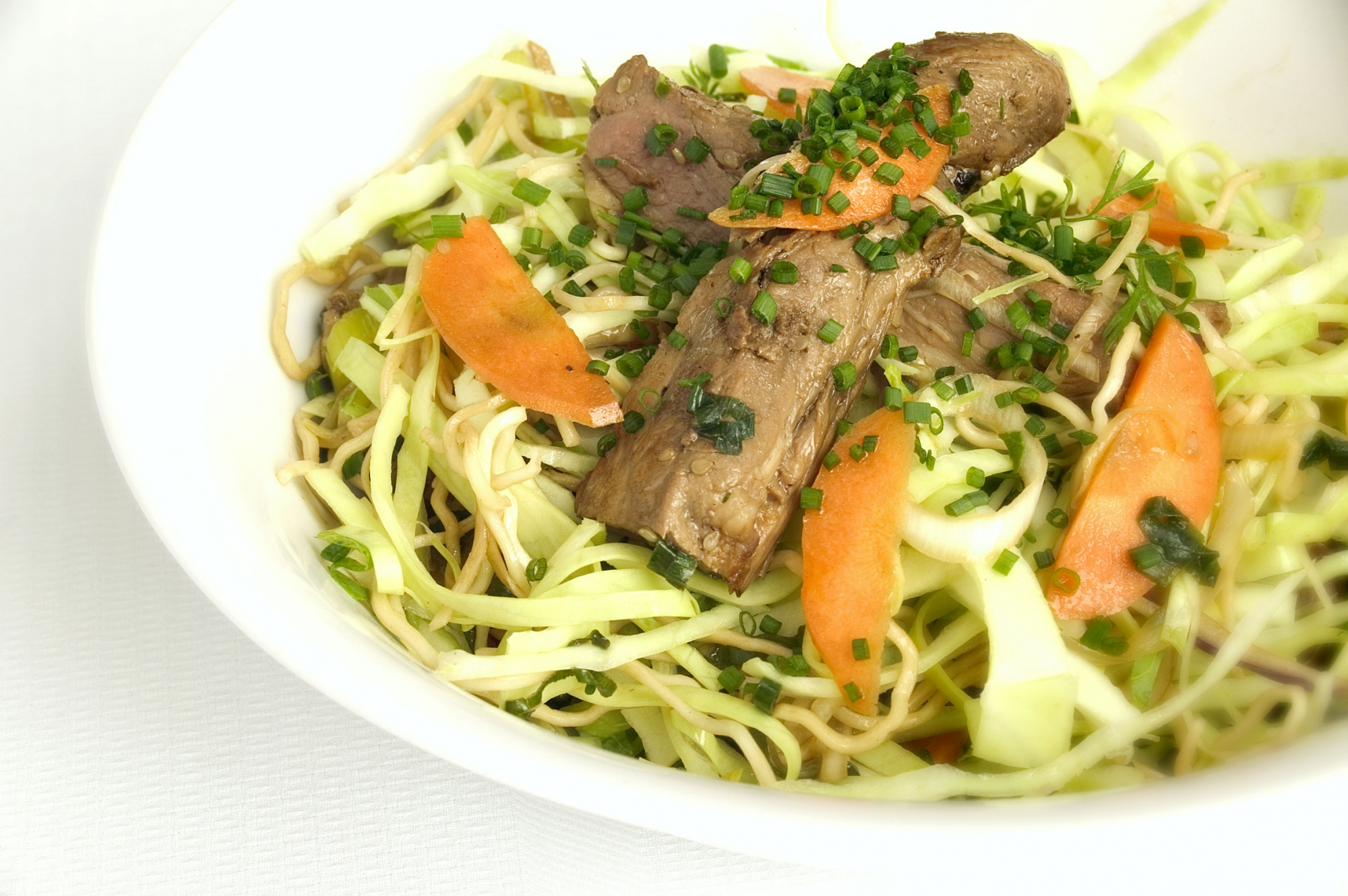 Skinkekød i wok