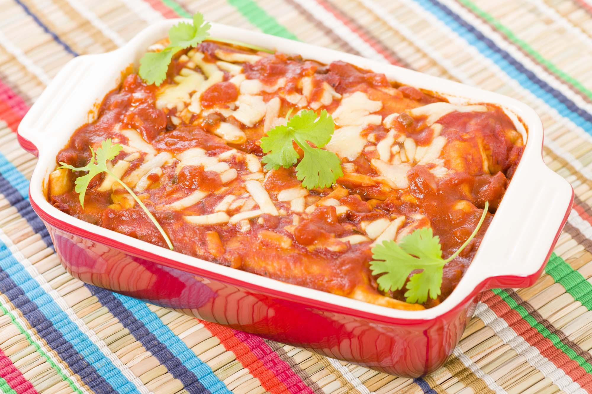 Mexicansk kyllinge-lasagne