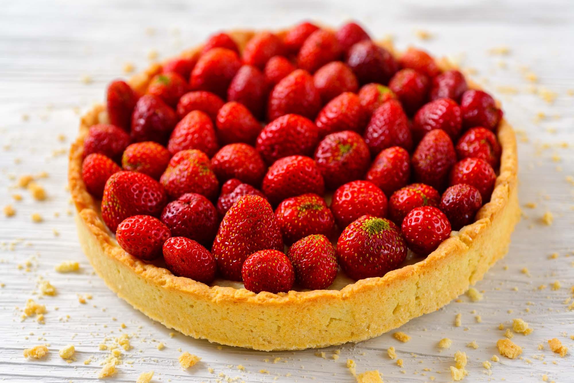 Fedtfattig jordbærtærte