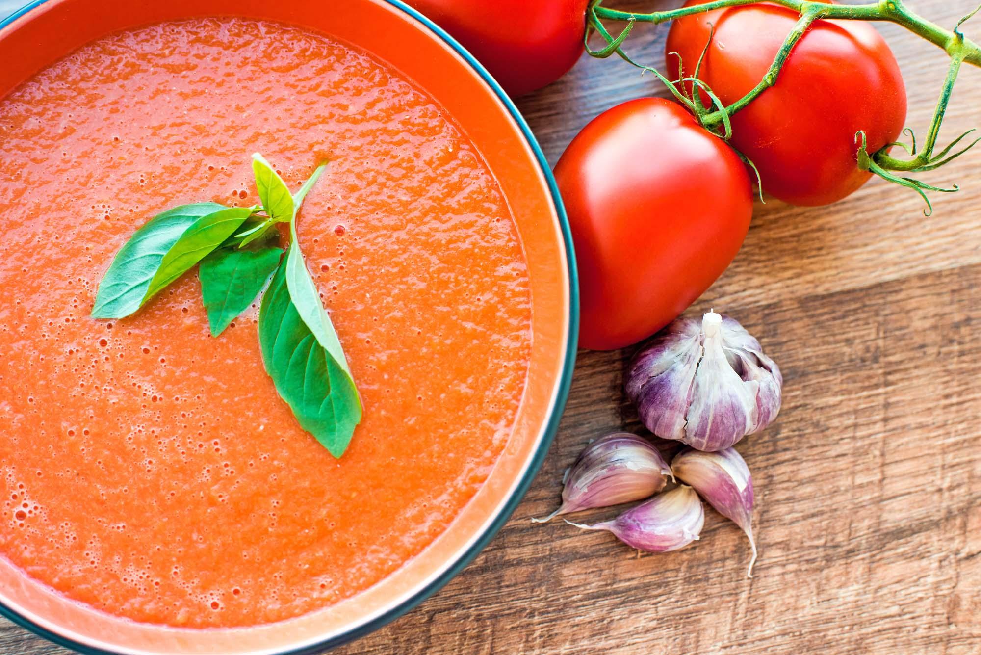 Tomatsuppe med friske tomater