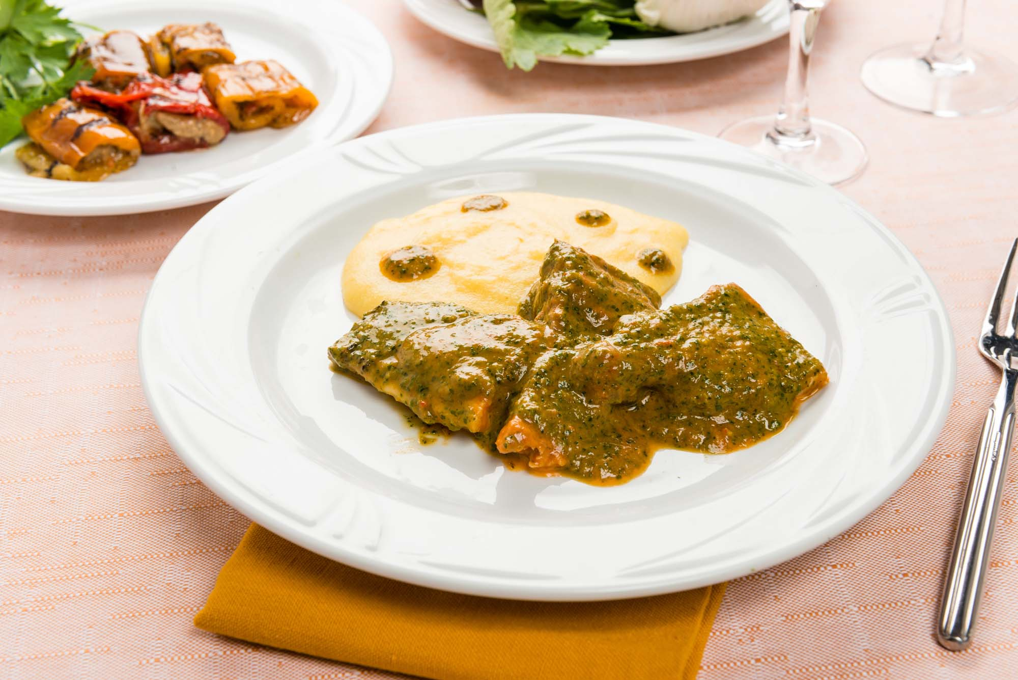 Gedde med salsa verde