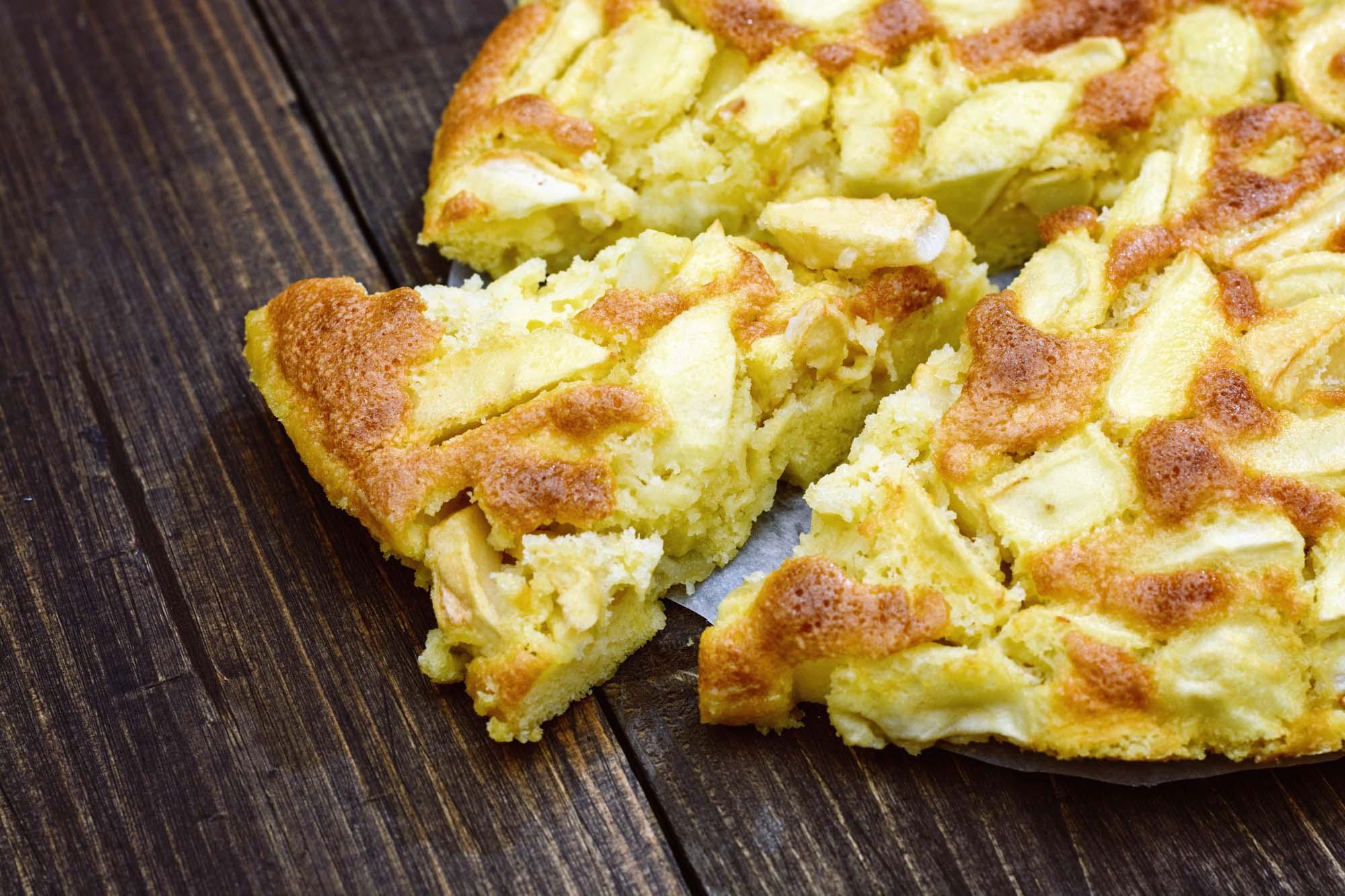 Æble og pære tærte