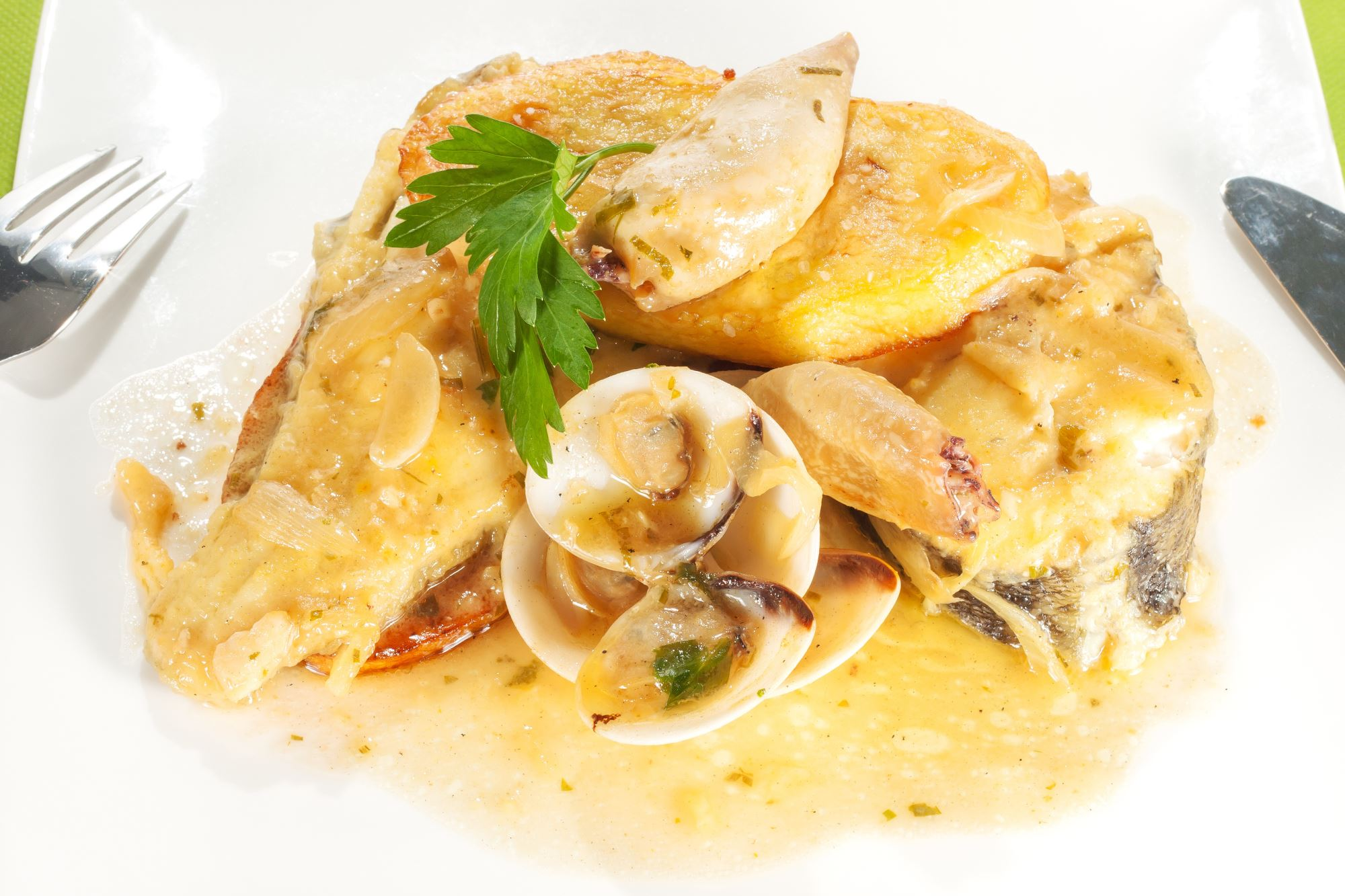Dampet torsk med blomkål og safran