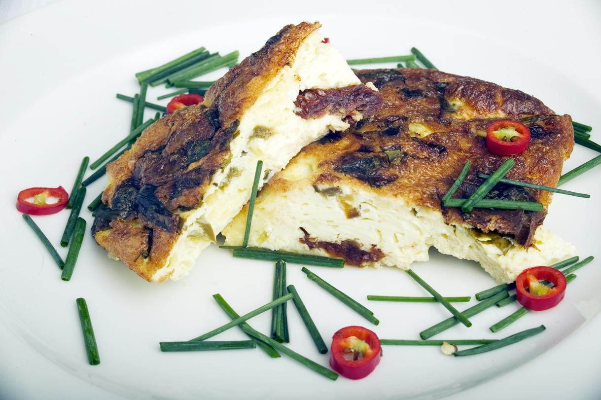 Jalapeno- og ostefrittata
