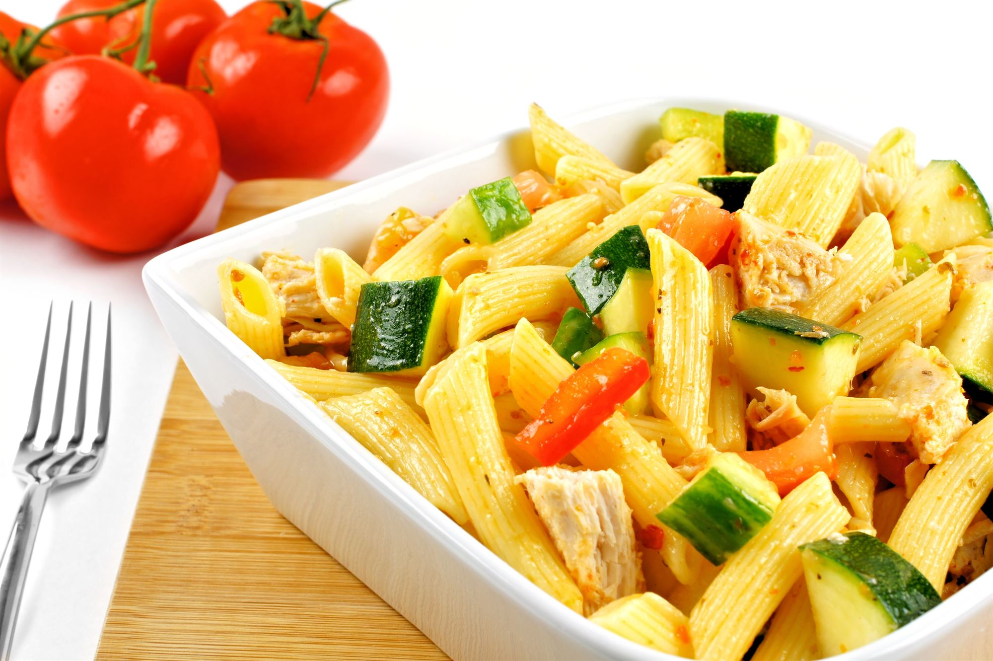 Italiensk kyllinge- og pastasalat