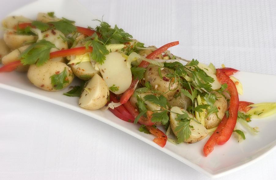 Kartoffelsalat med chili- og citrondressing