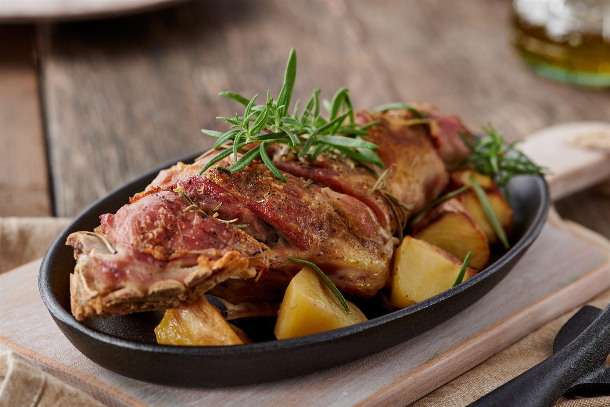 Påskelam med kartofler og artiskok