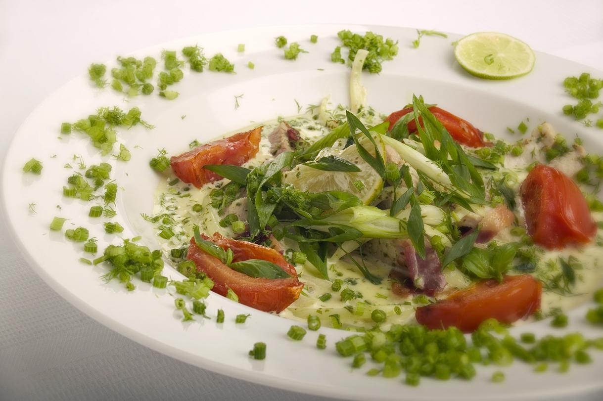 Mørbradsstrimler med limesauce