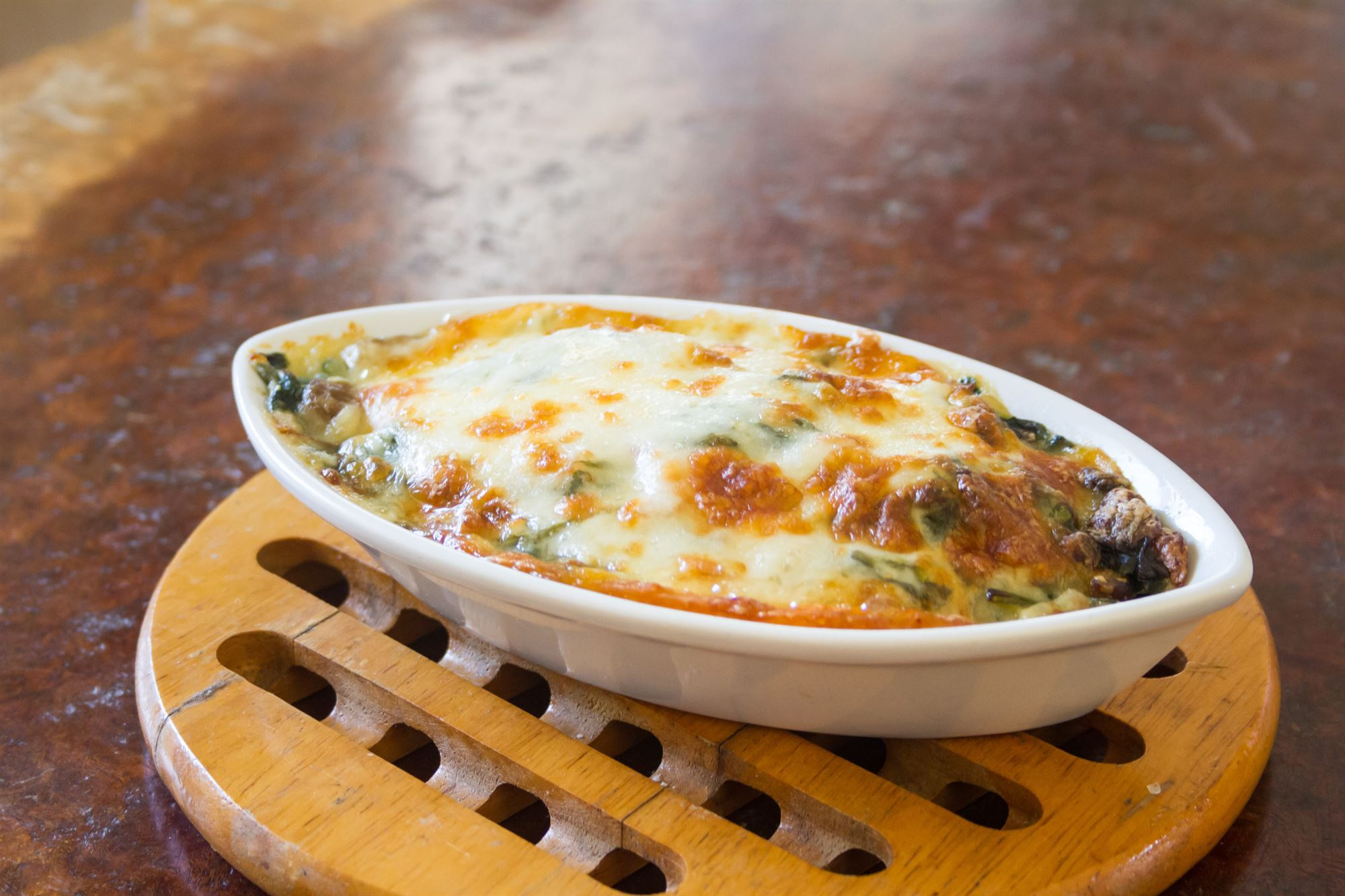 Kartoffel lasagne med spinat