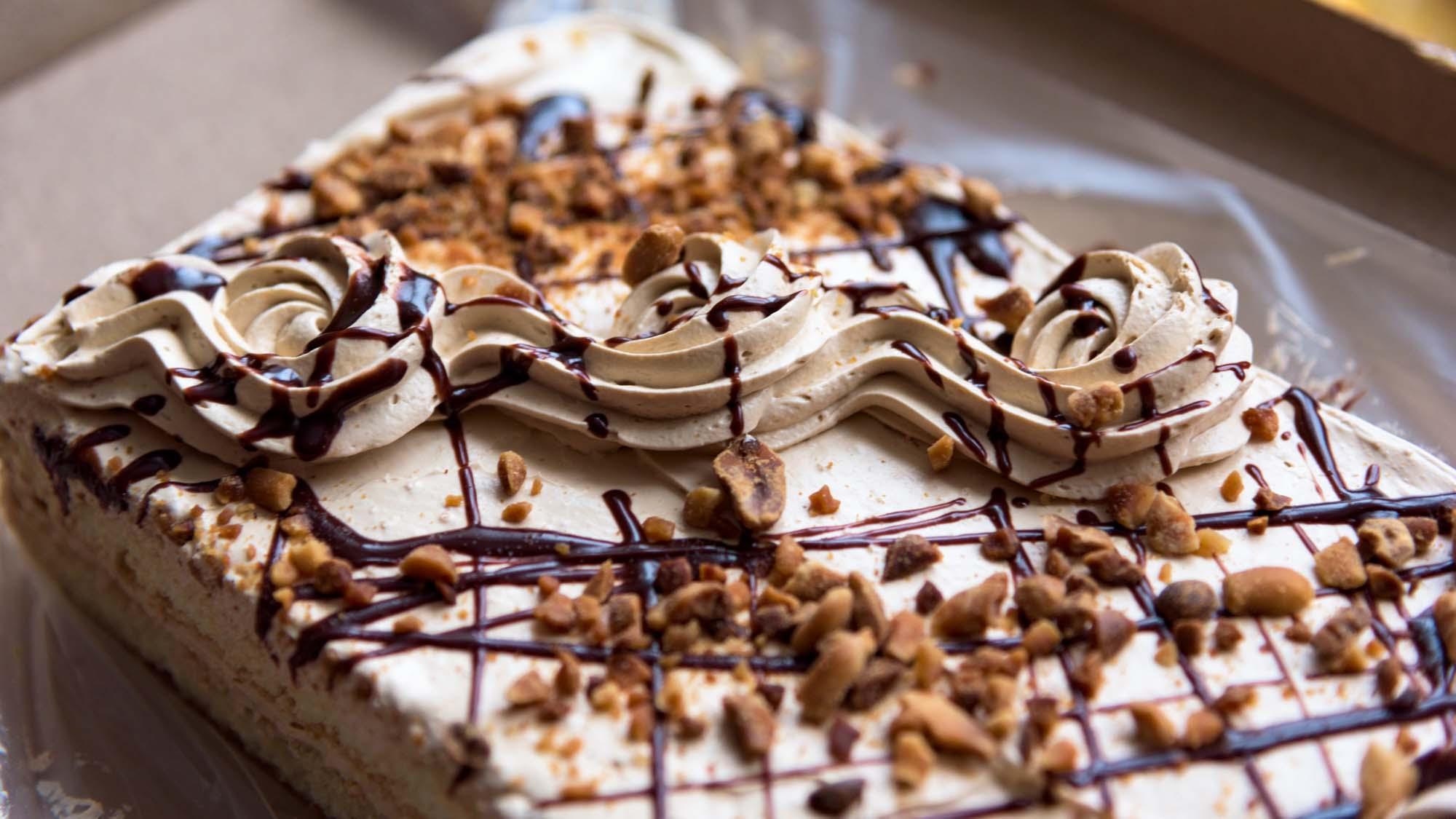 Bøge nøddekage med chokoladekræs