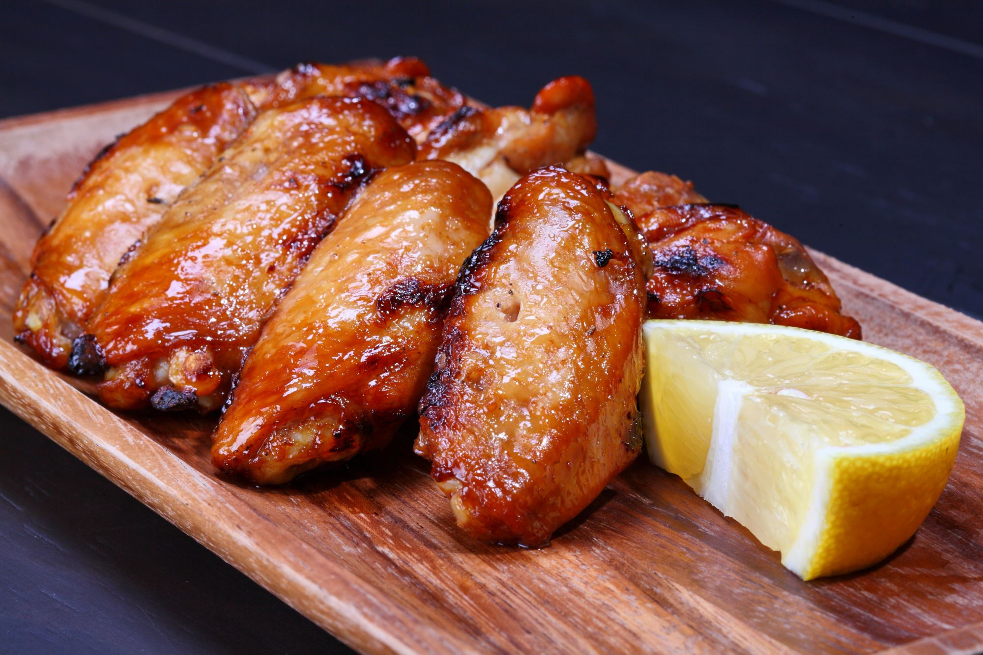 Citrus-barbecue wings