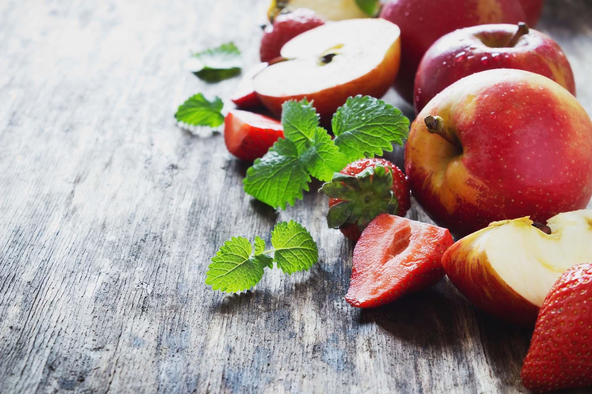 Æble-jordbær marmelade