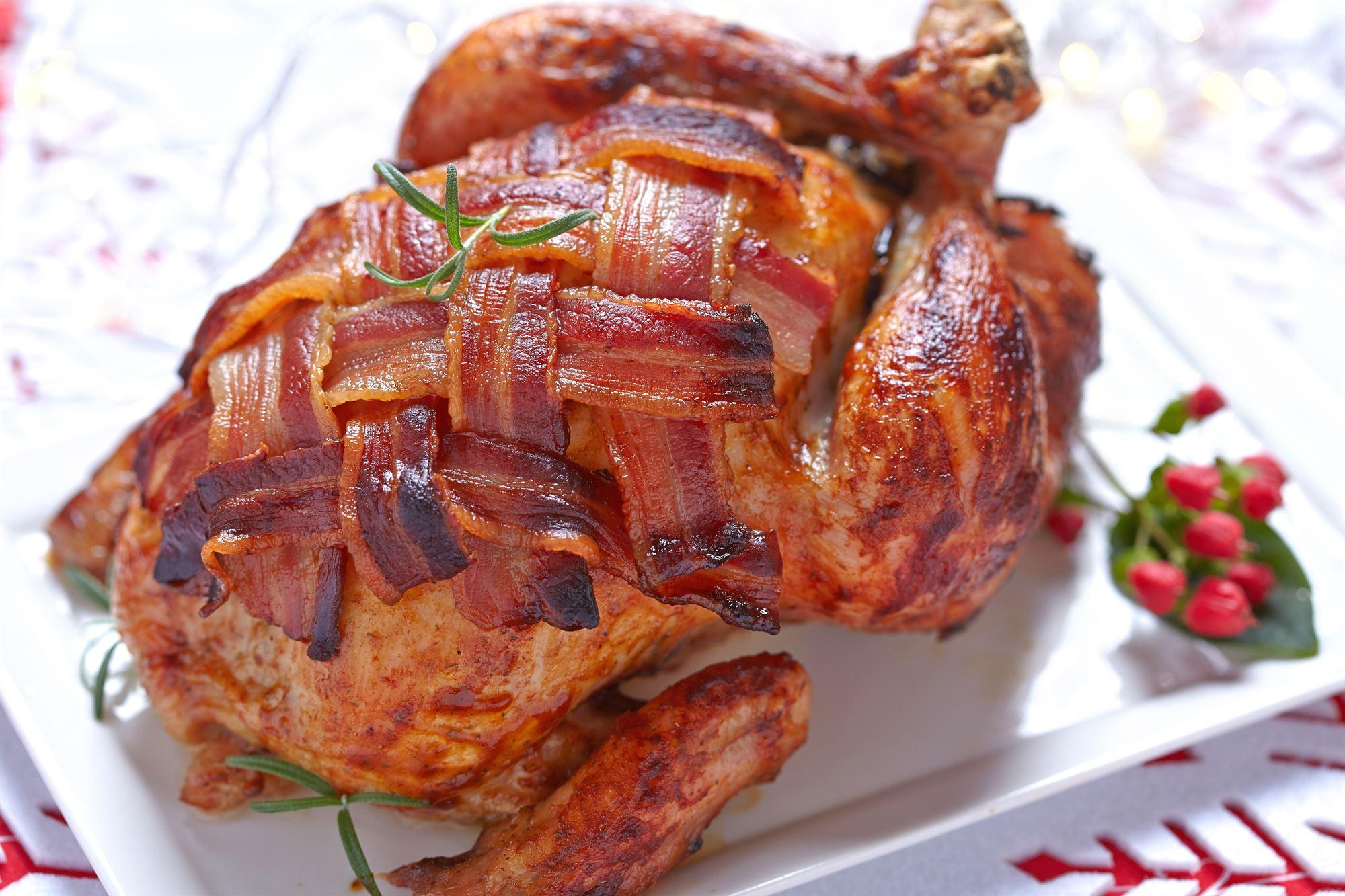 Stegt kylling med bacon