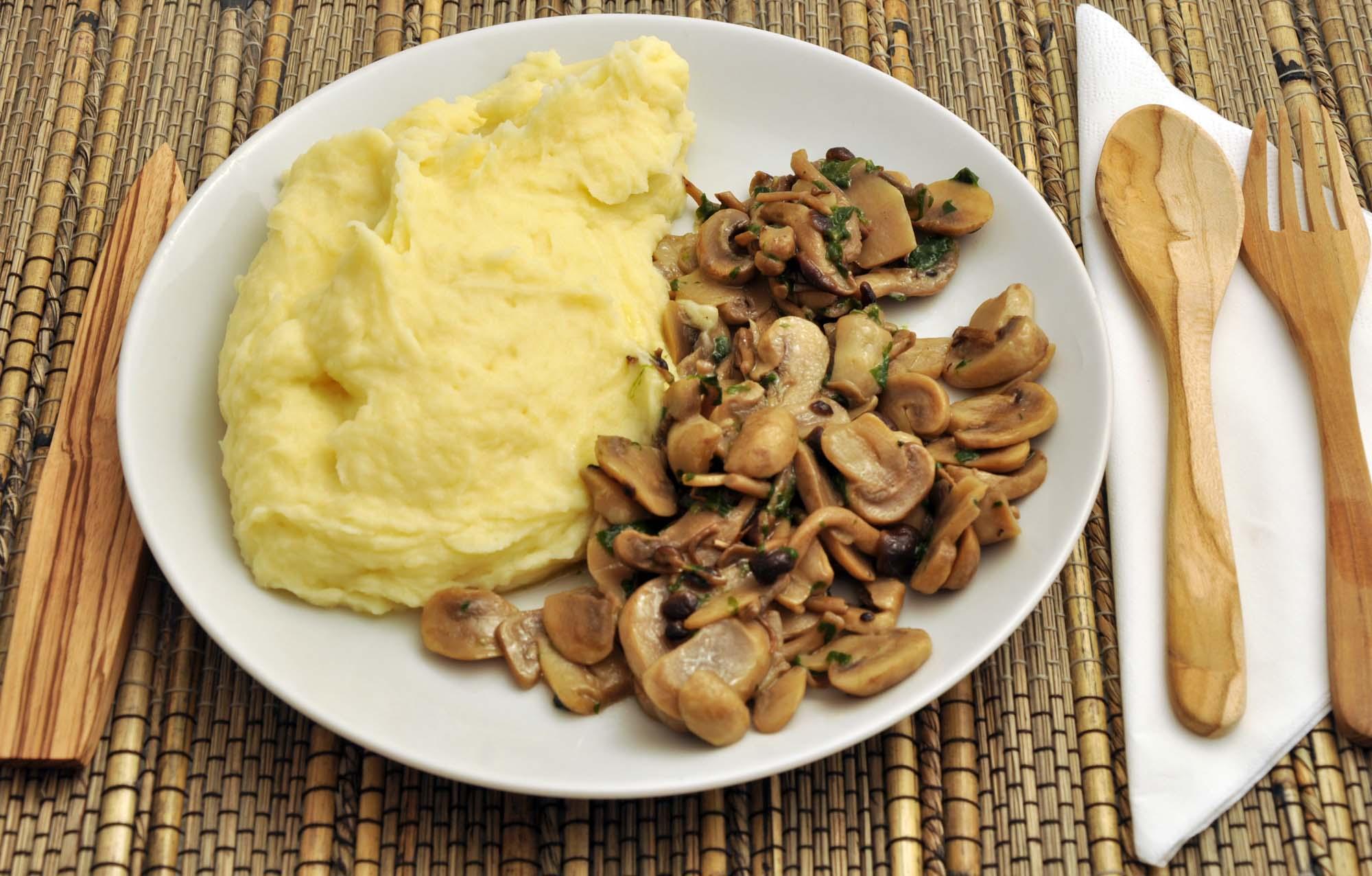 Kartoffelmos med champignoner