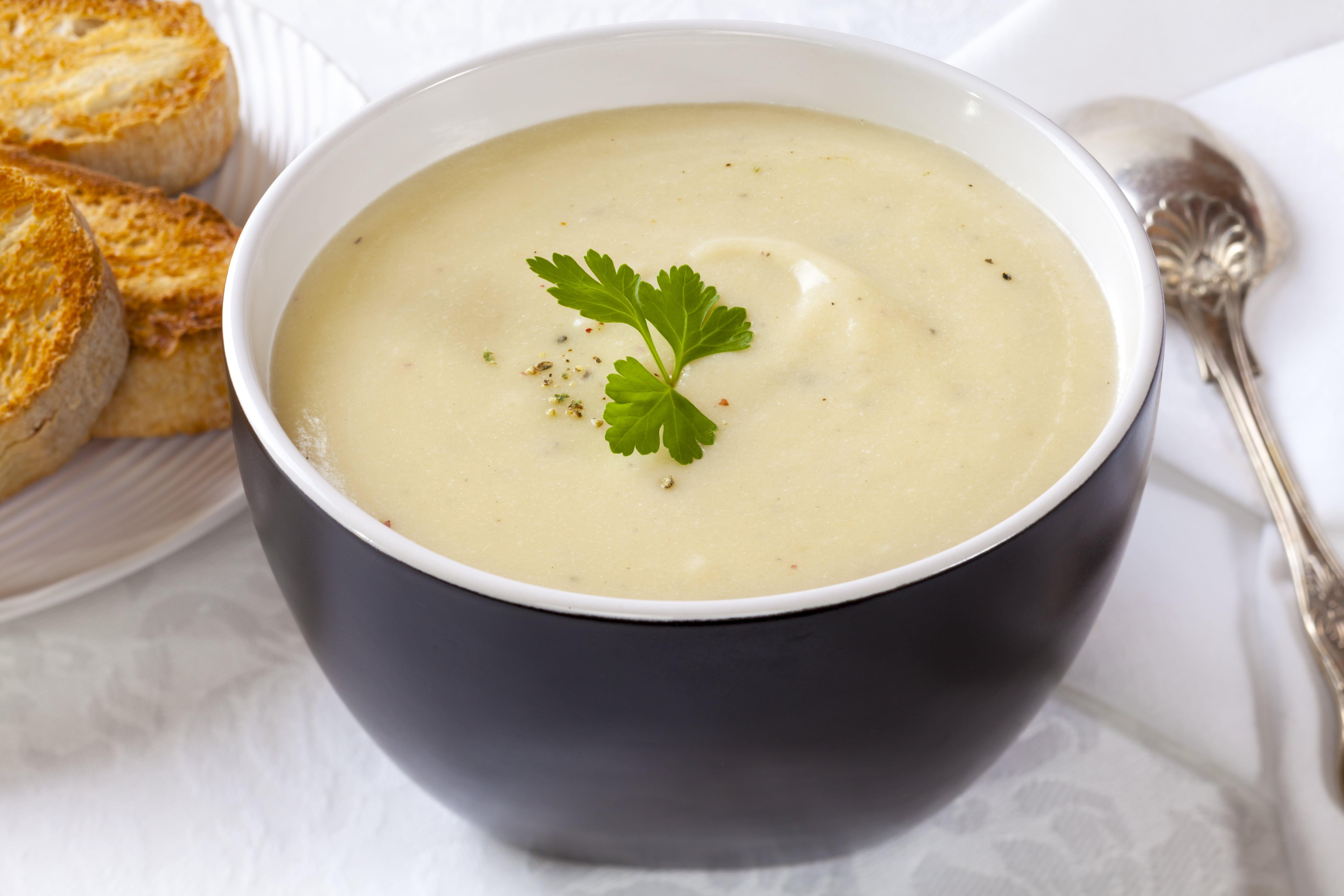 Kartoffel-porresuppe