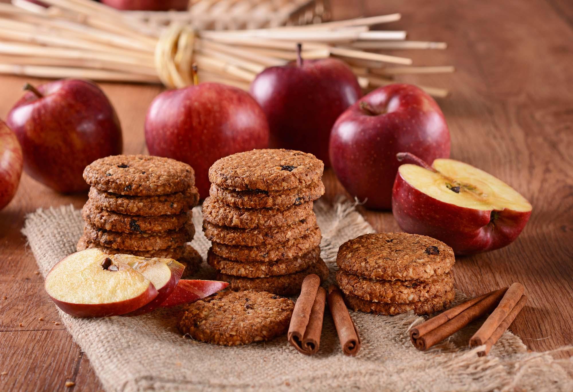 Æble og rosin biscotti