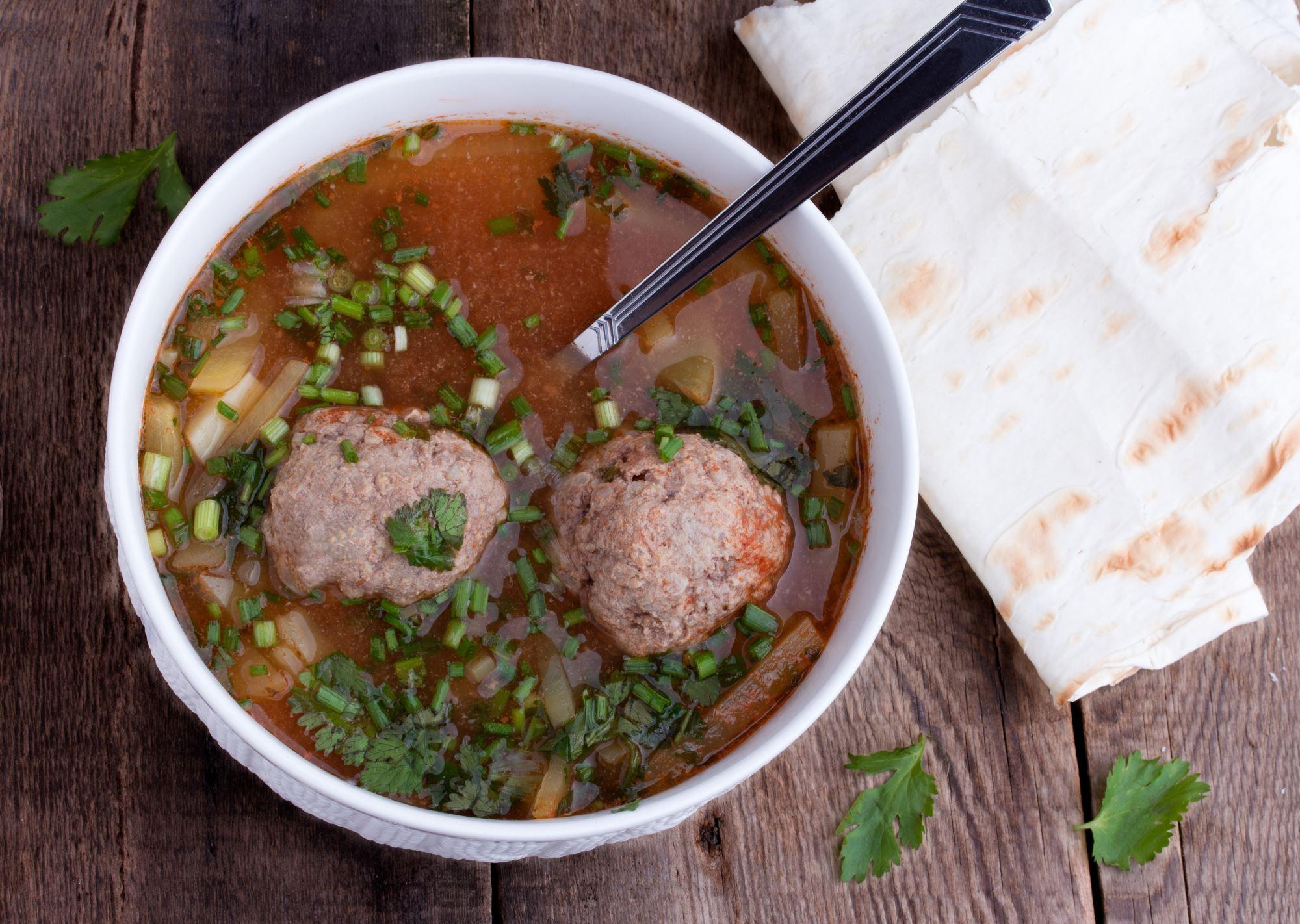 Fransk suppe med kødboller