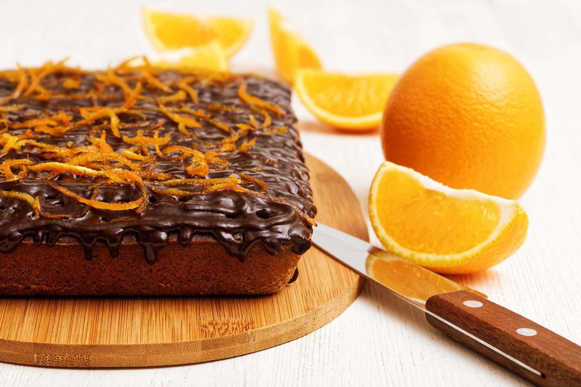 Orange-chokoladekage