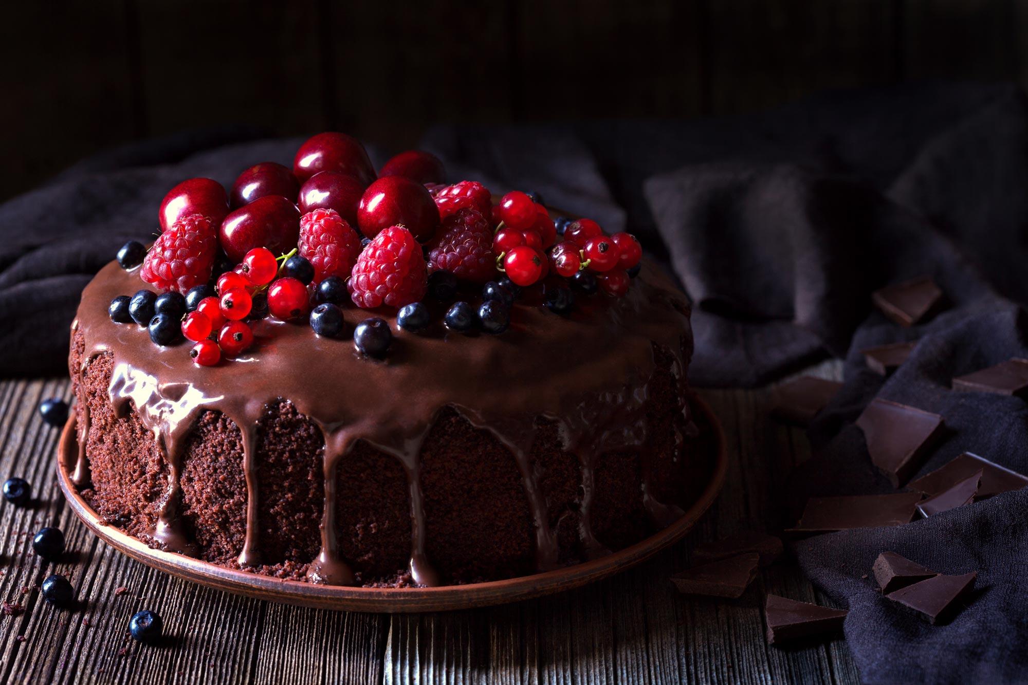 Chokoladekage med appelsin