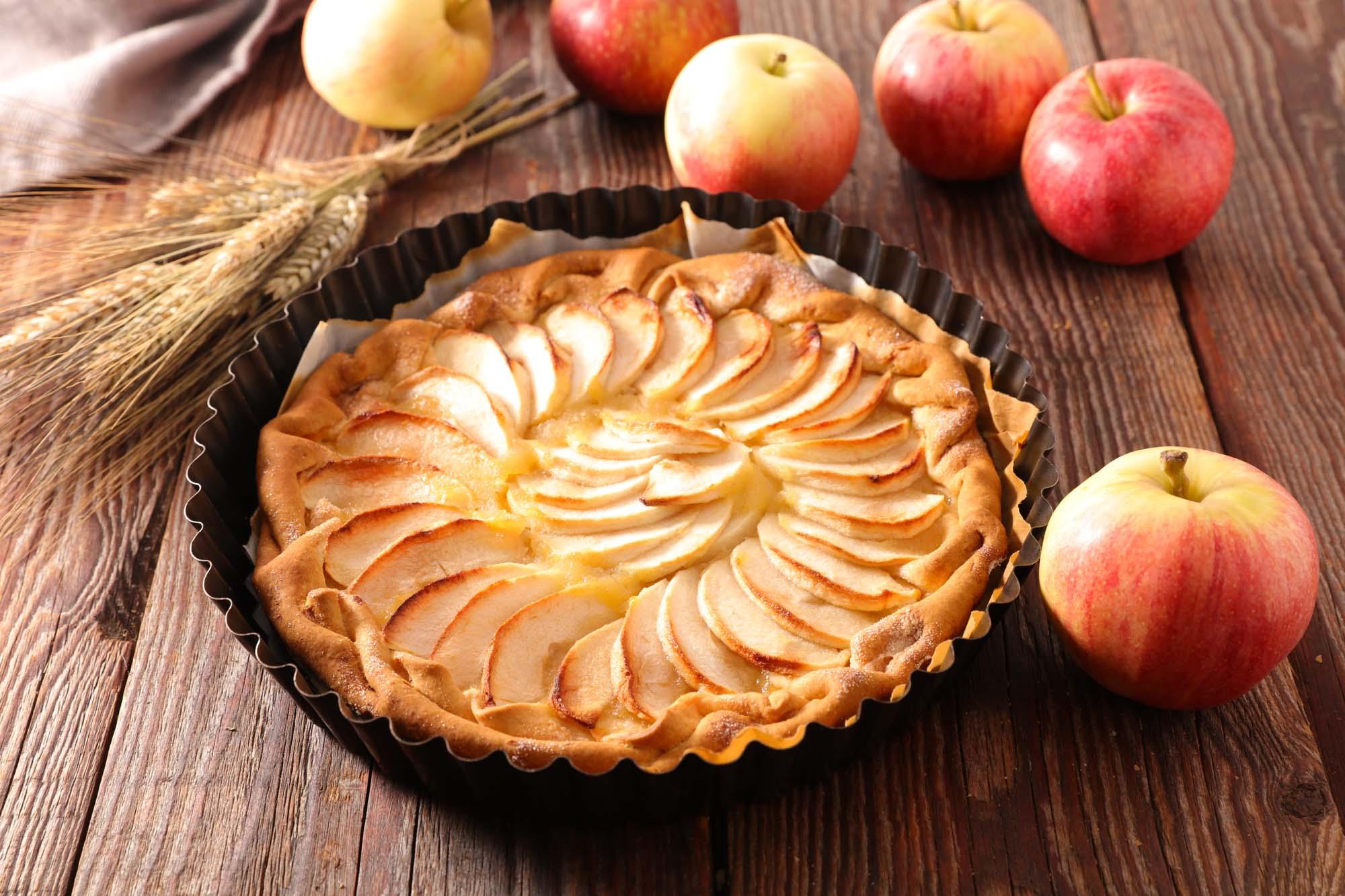 Æblekagetærte