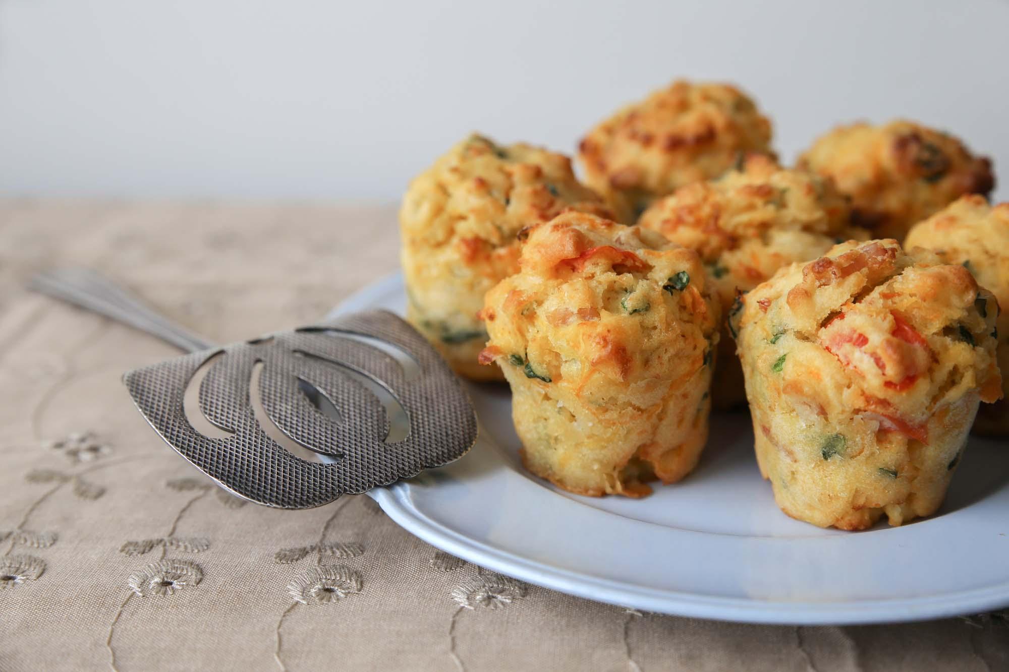 Madmuffins med soltørrede tomater
