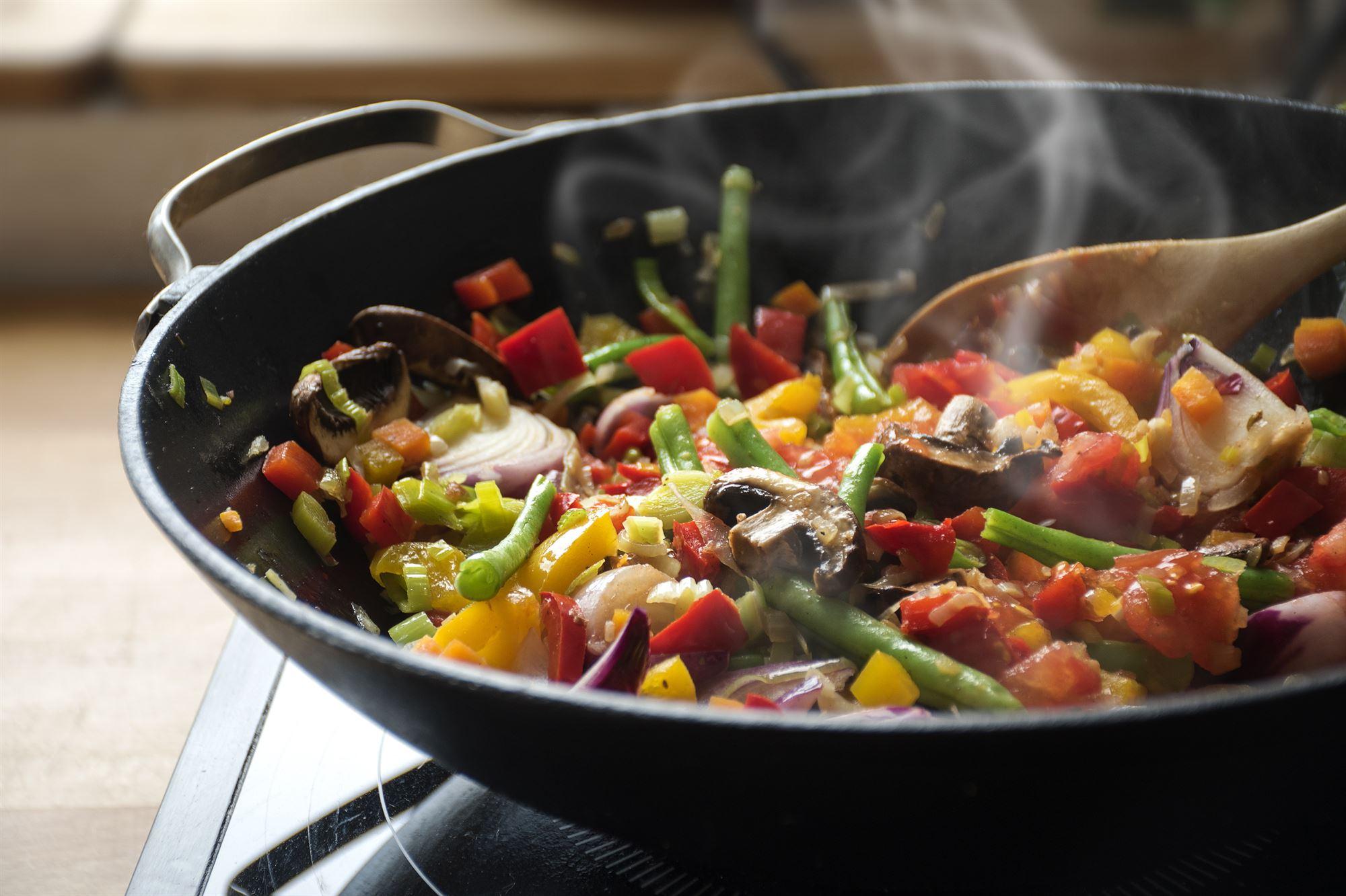 Grøntsager i wok