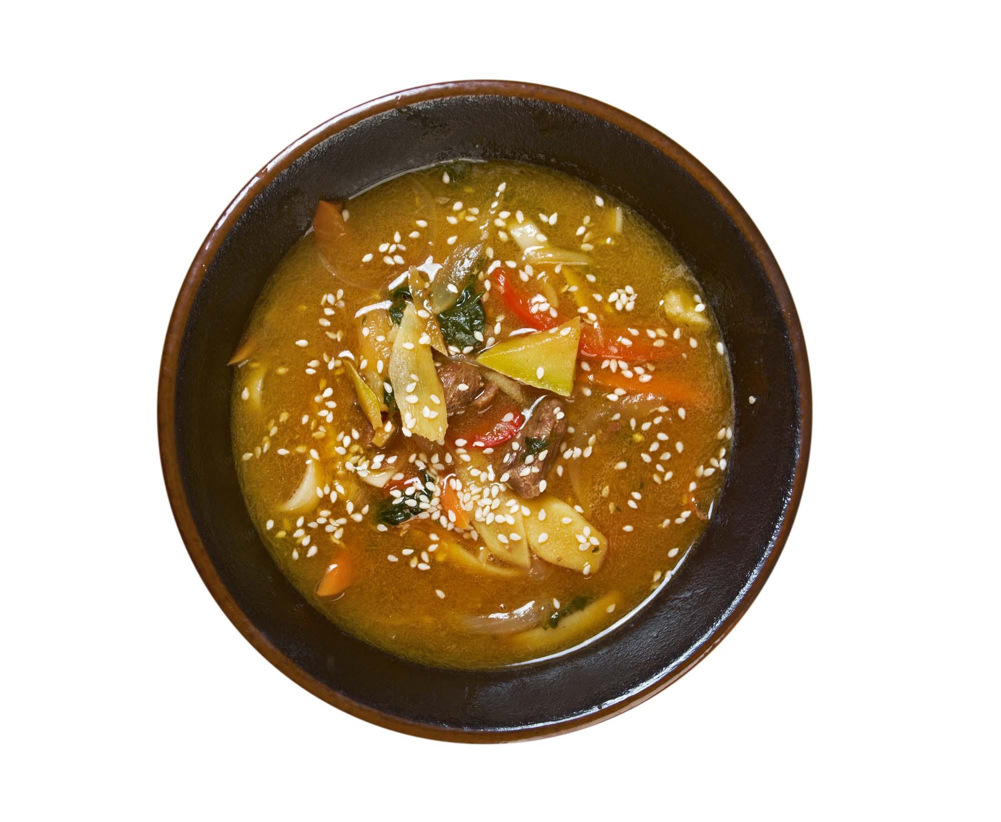 Kinesisk suppe med kalkun