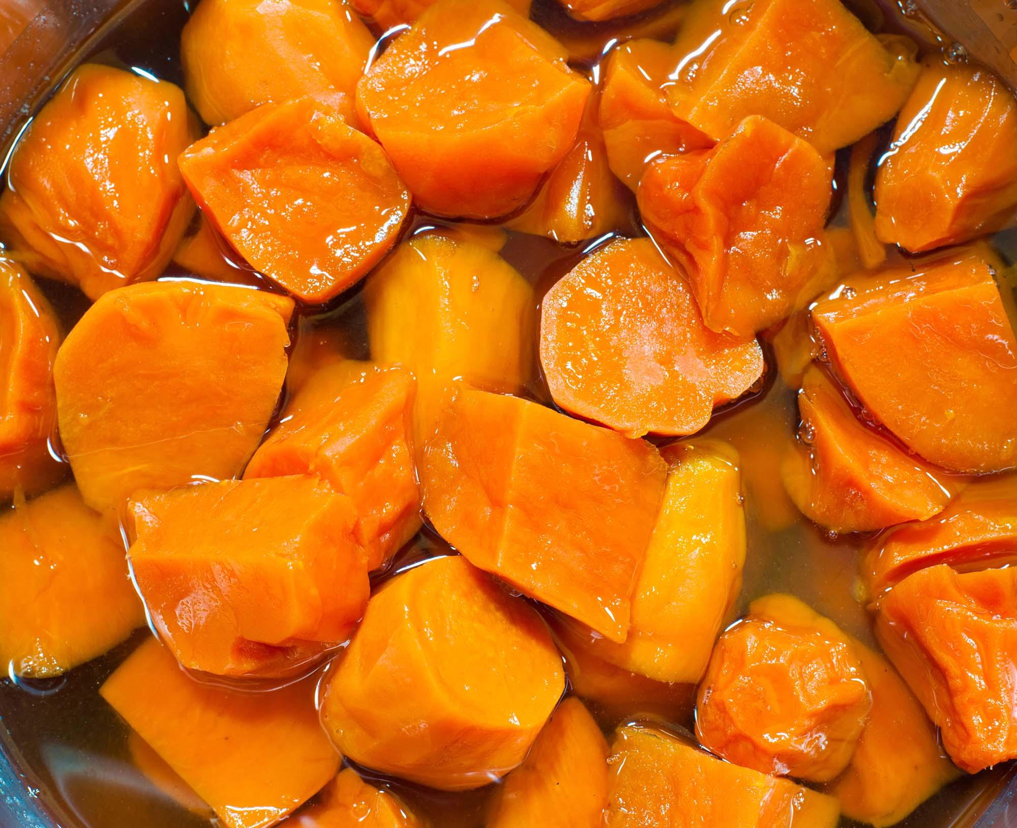 Bagte kartofler med ingefær og honning