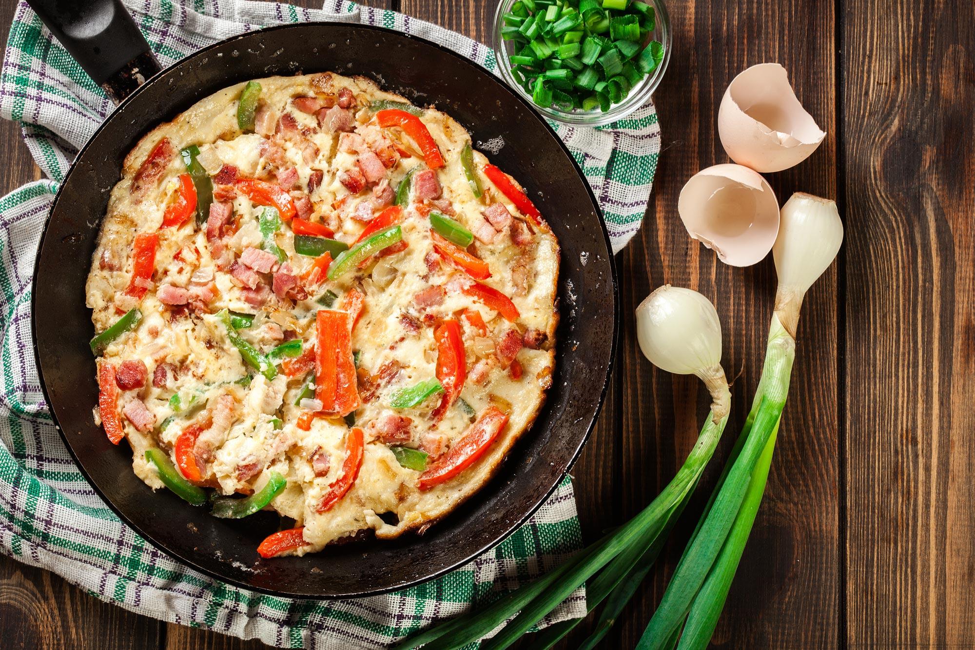 Baskisk skinke og æg