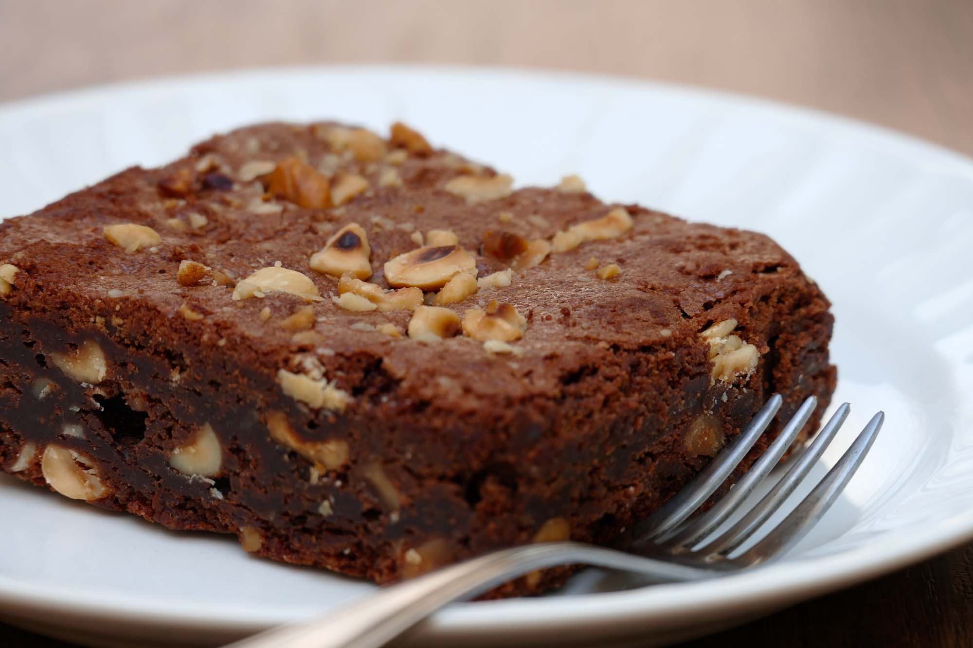 Hasselnødde-chokolade kage