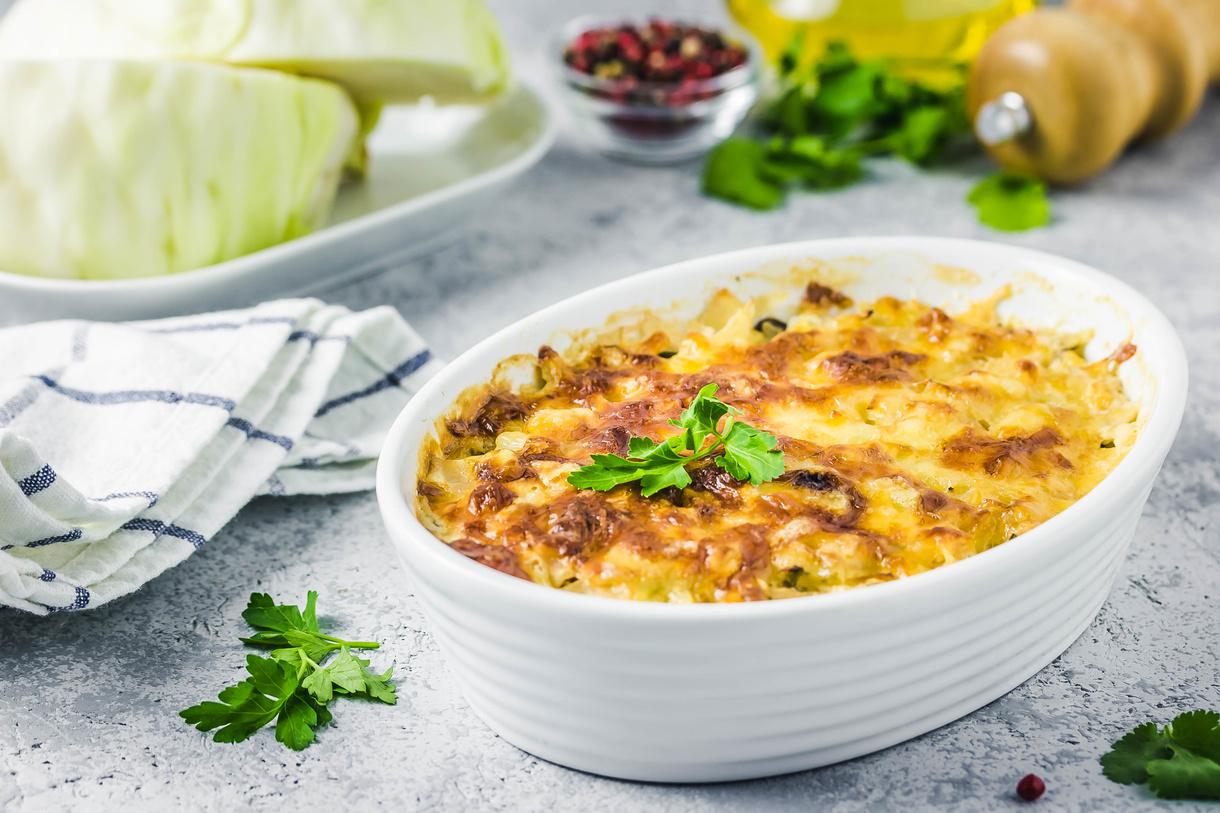 Kartoffelgratin med oksekød