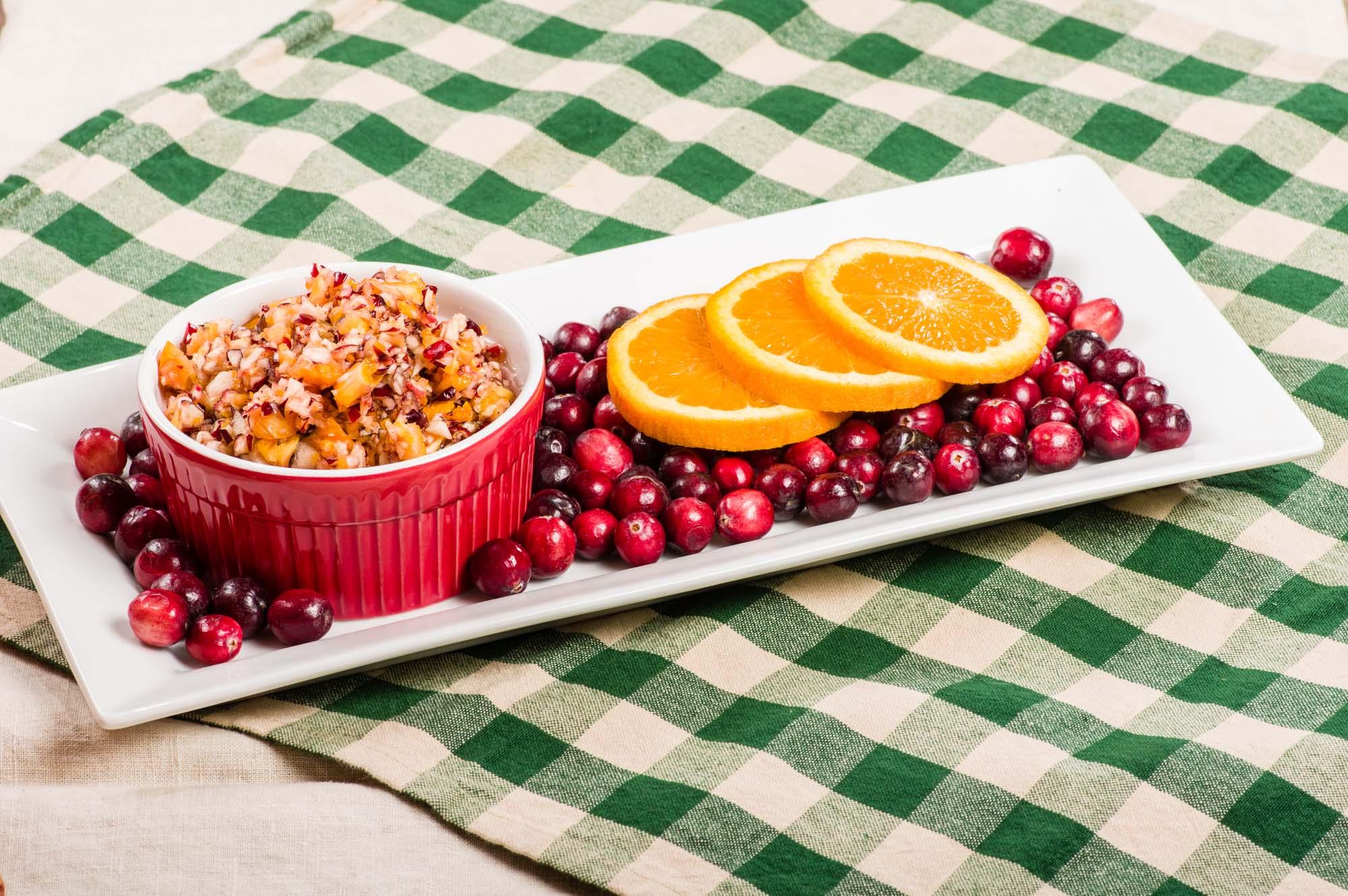 Krydret tranebær- og appelsinrelish