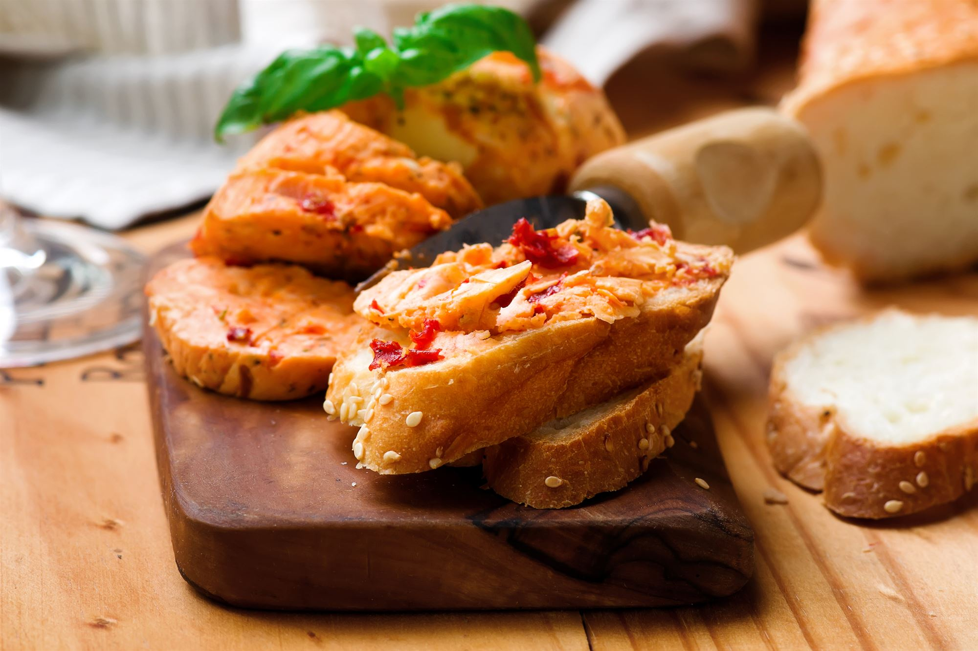 Ristet brød med katalansk smør