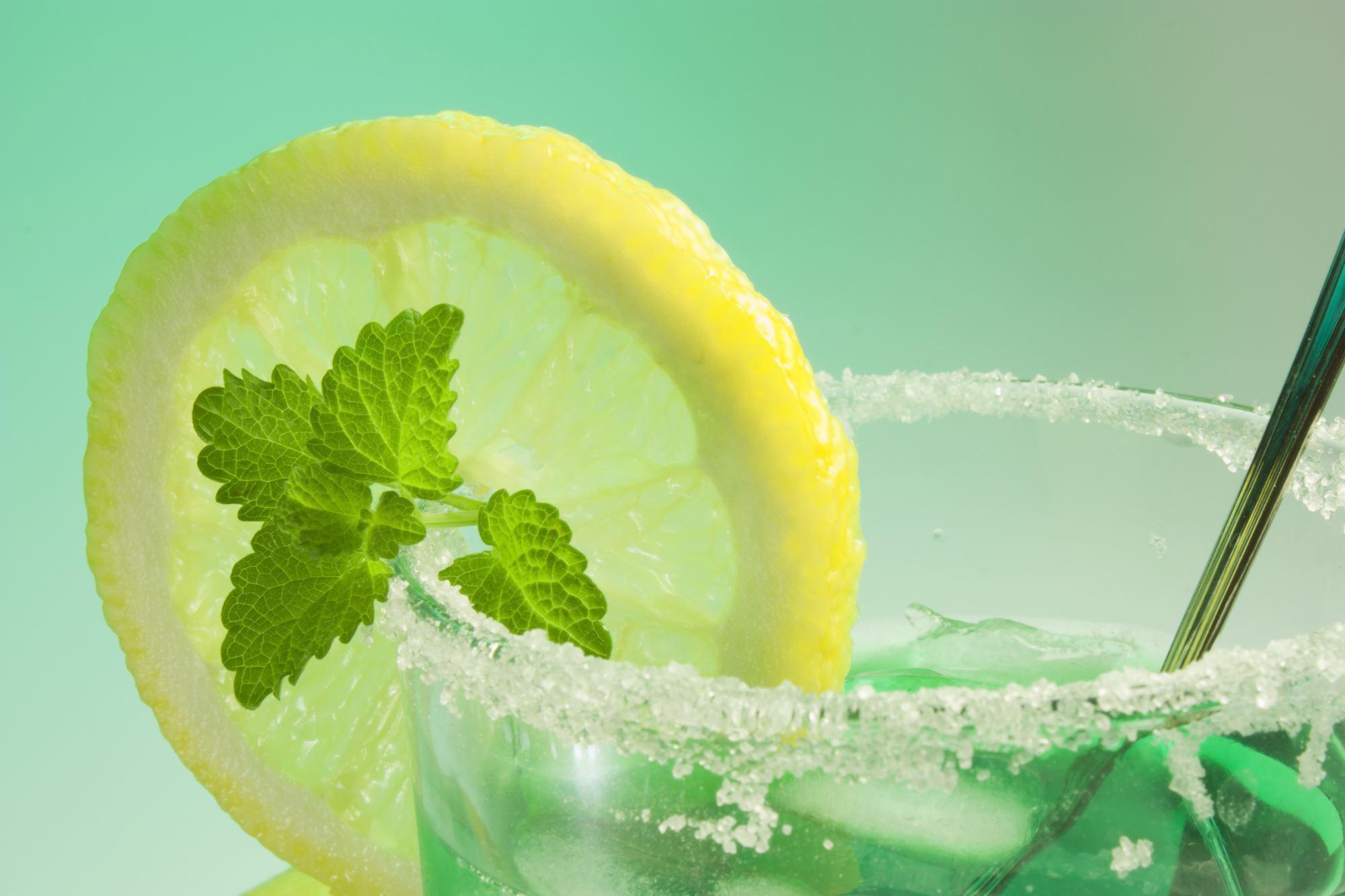 Drinkpynt med sukker og lime