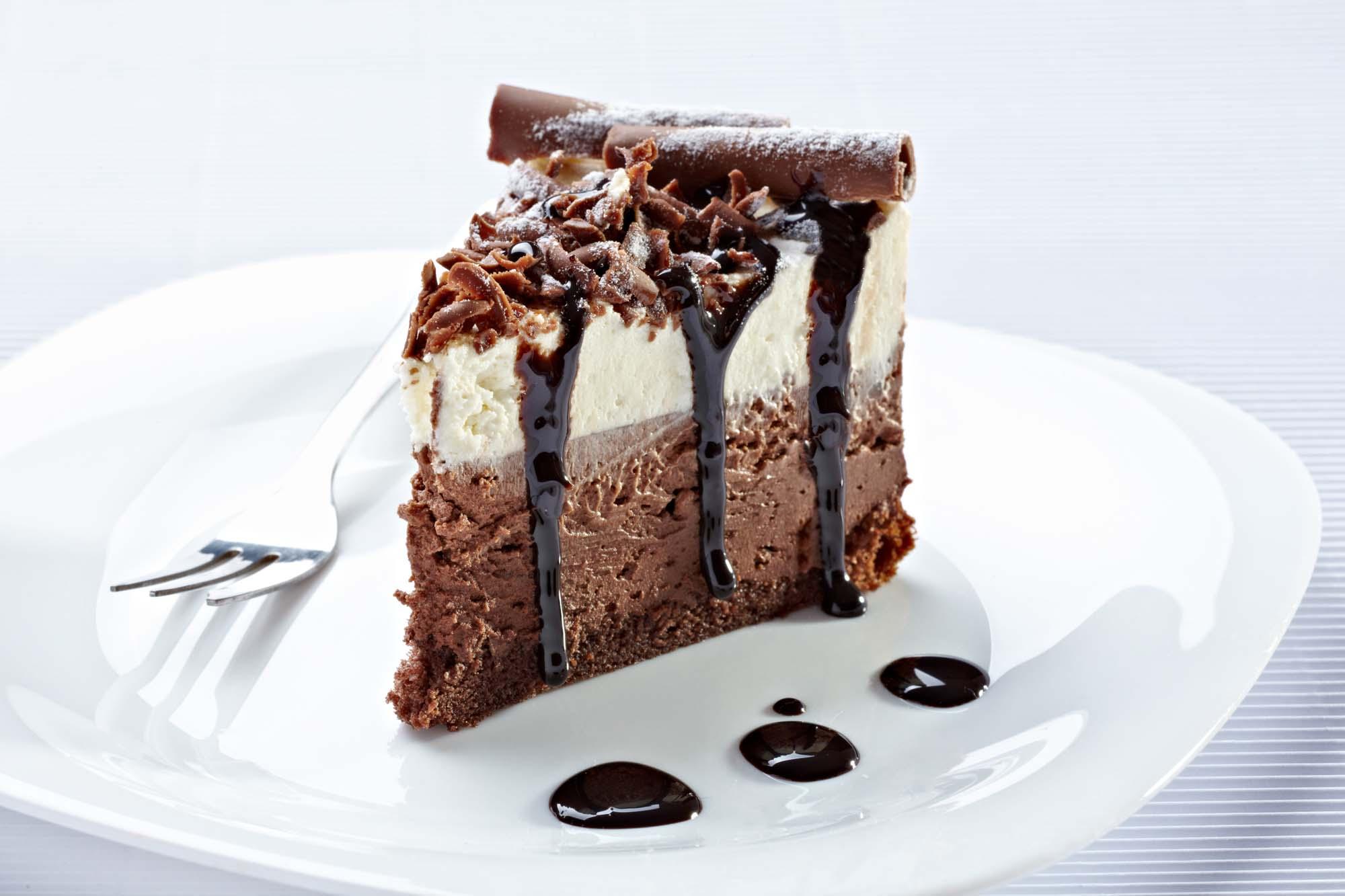 Capuchino-fudge-cheese cake